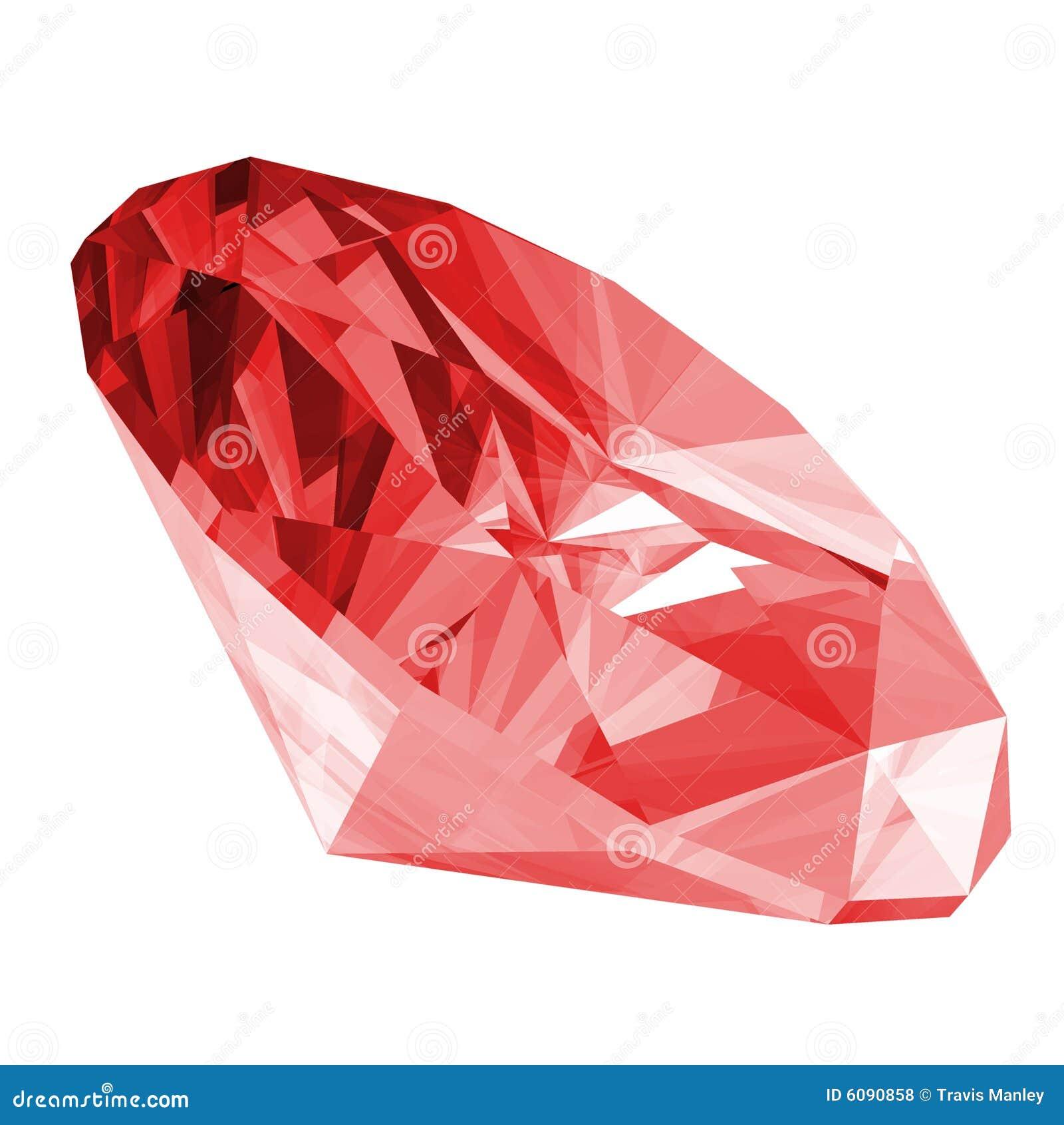 Rubis 3d d isolement par gemme