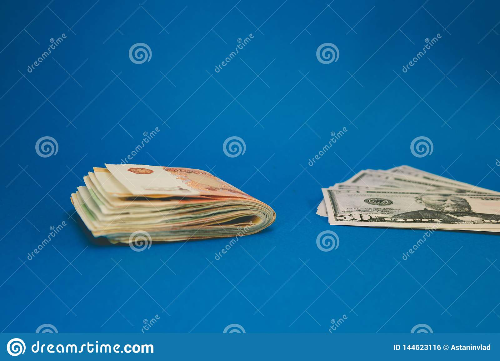 Ruble and dollar. The struggle of the ruble and the dollar in the modern financial world. Currency Ratio, Concept