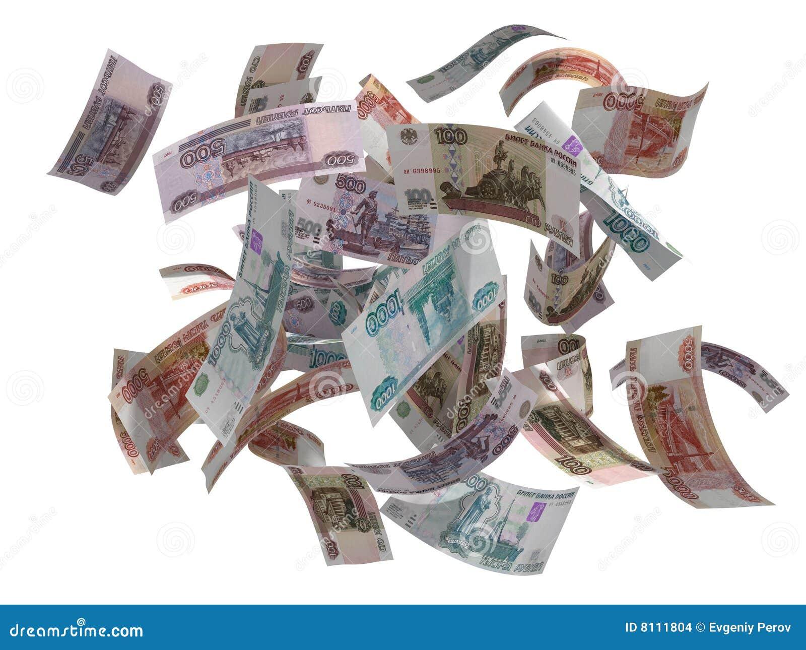 Rublos rusas volar
