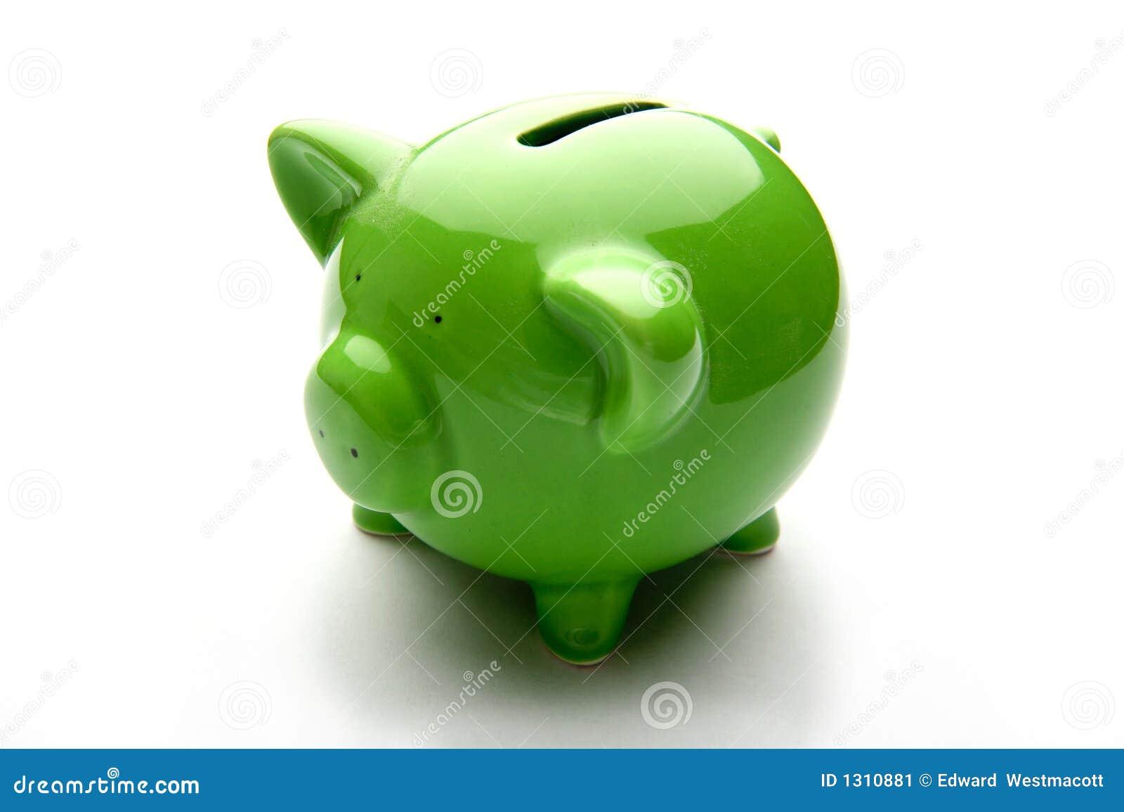 Rubryki pieniądze banku świnka