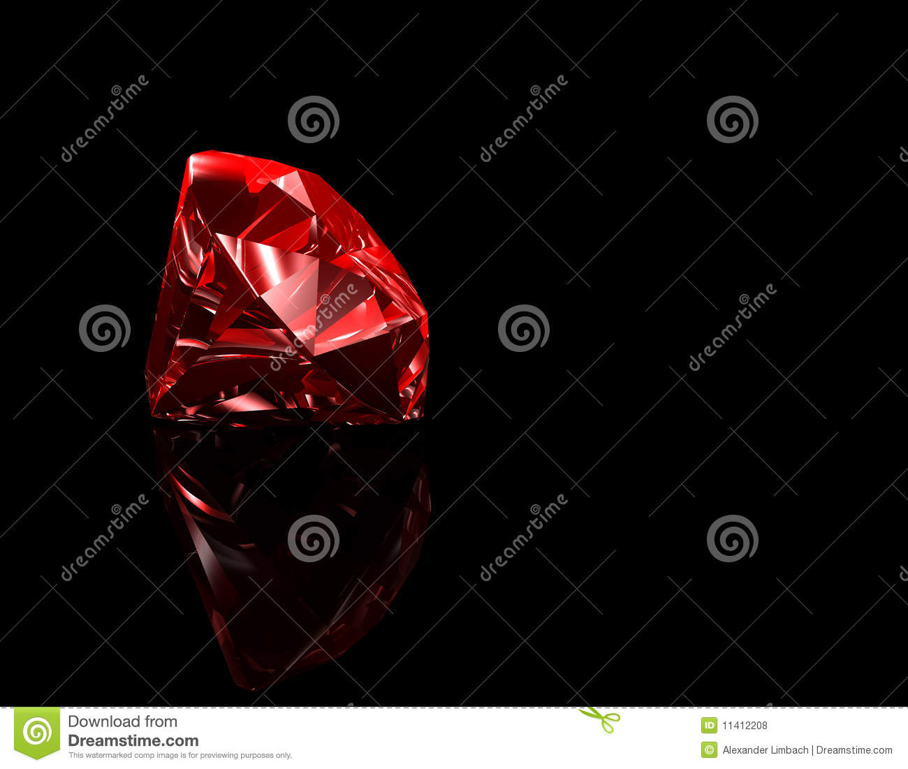 Ruby 3d Black Background Stock Illustration Illustration