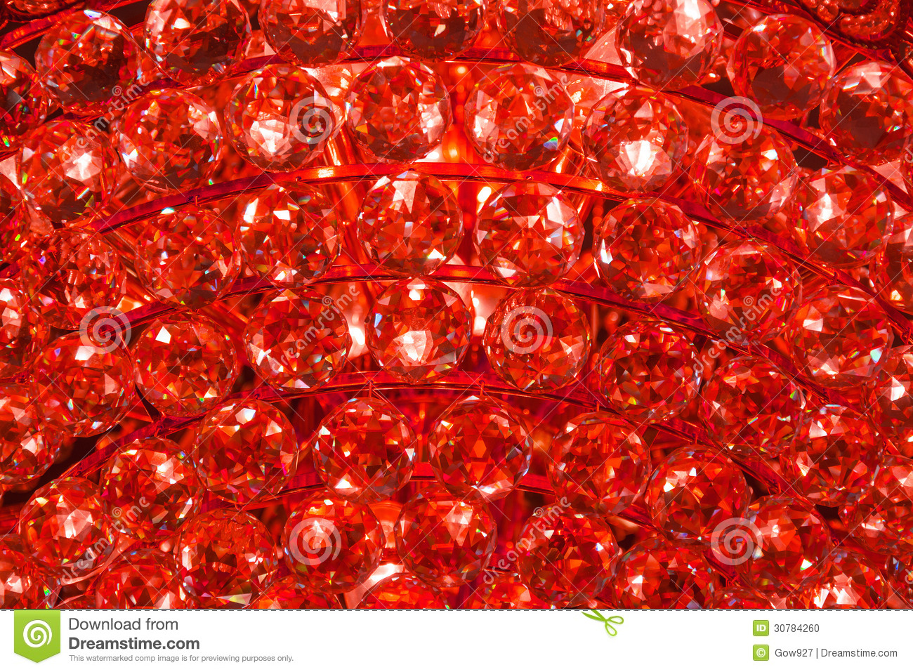 Ruby Crystal Pattern From A Chandelier Stock Photo Image