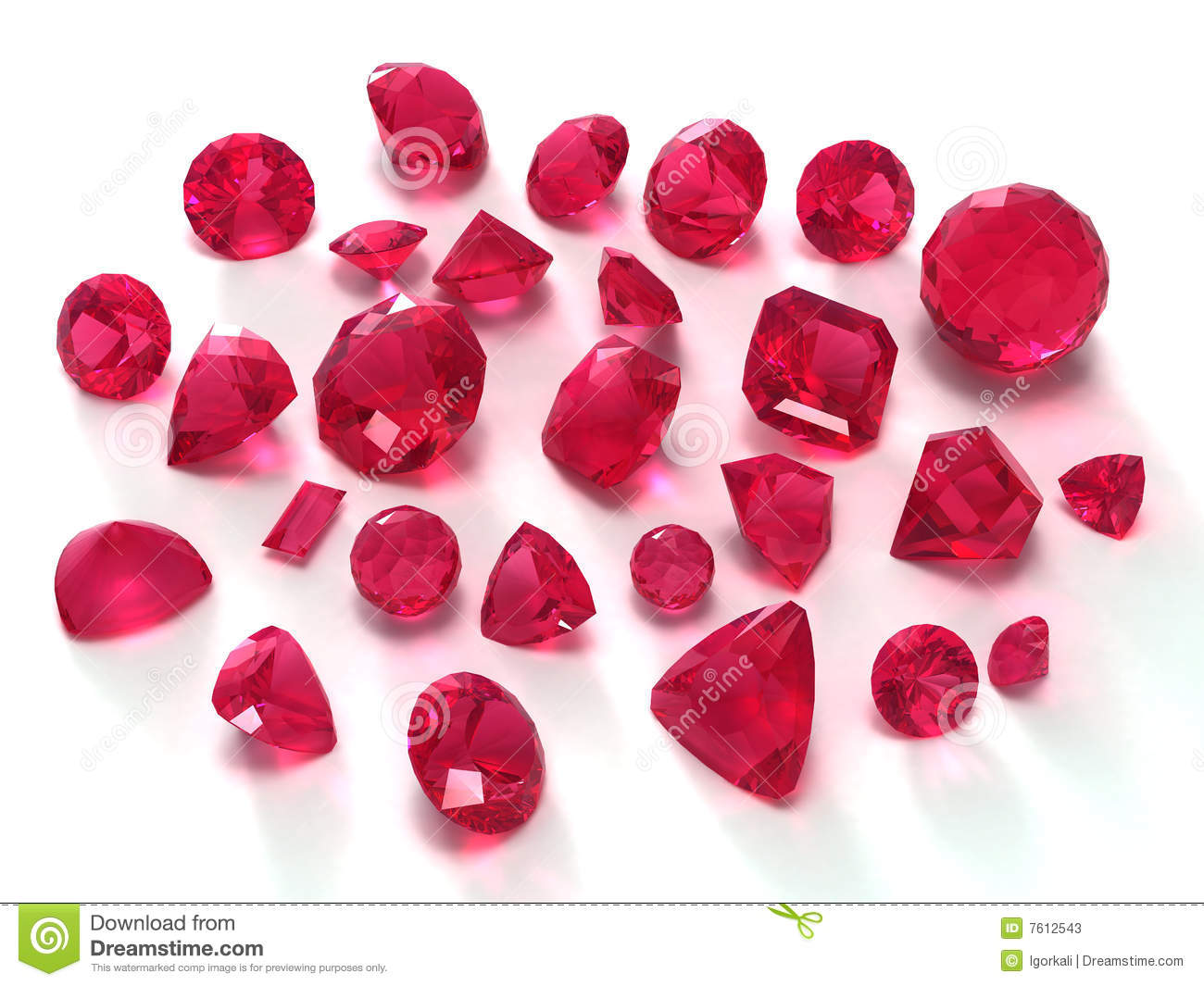 Ruby Gems Stock Illustration Illustration Of Almandine