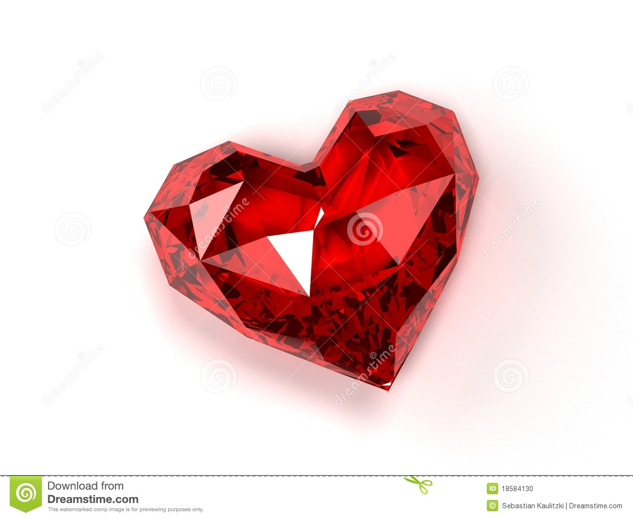 3d rendered illustration of an isolated expensive ruby on white ...