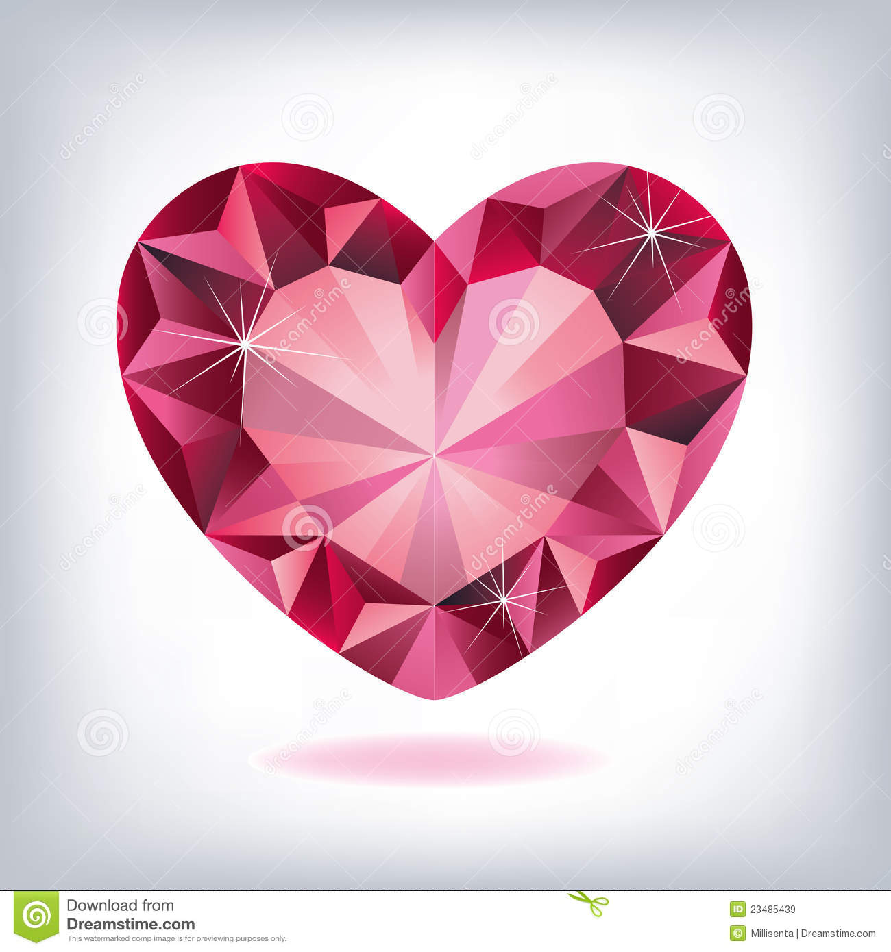 Ruby Heart Shaped Royalty Free Stock Images Image 23485439