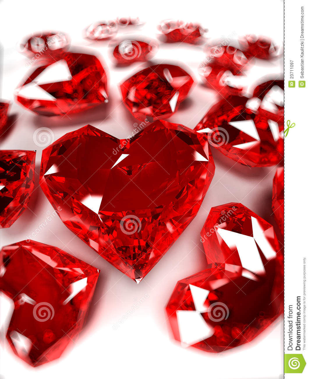 Ruby Hearts Royalty Free Stock Photography Image 23711097
