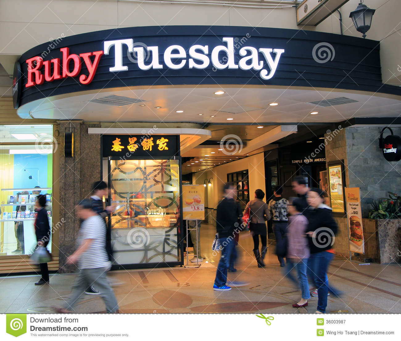 Ruby Tuesday Restaurant In Hong Kong Editorial Photography