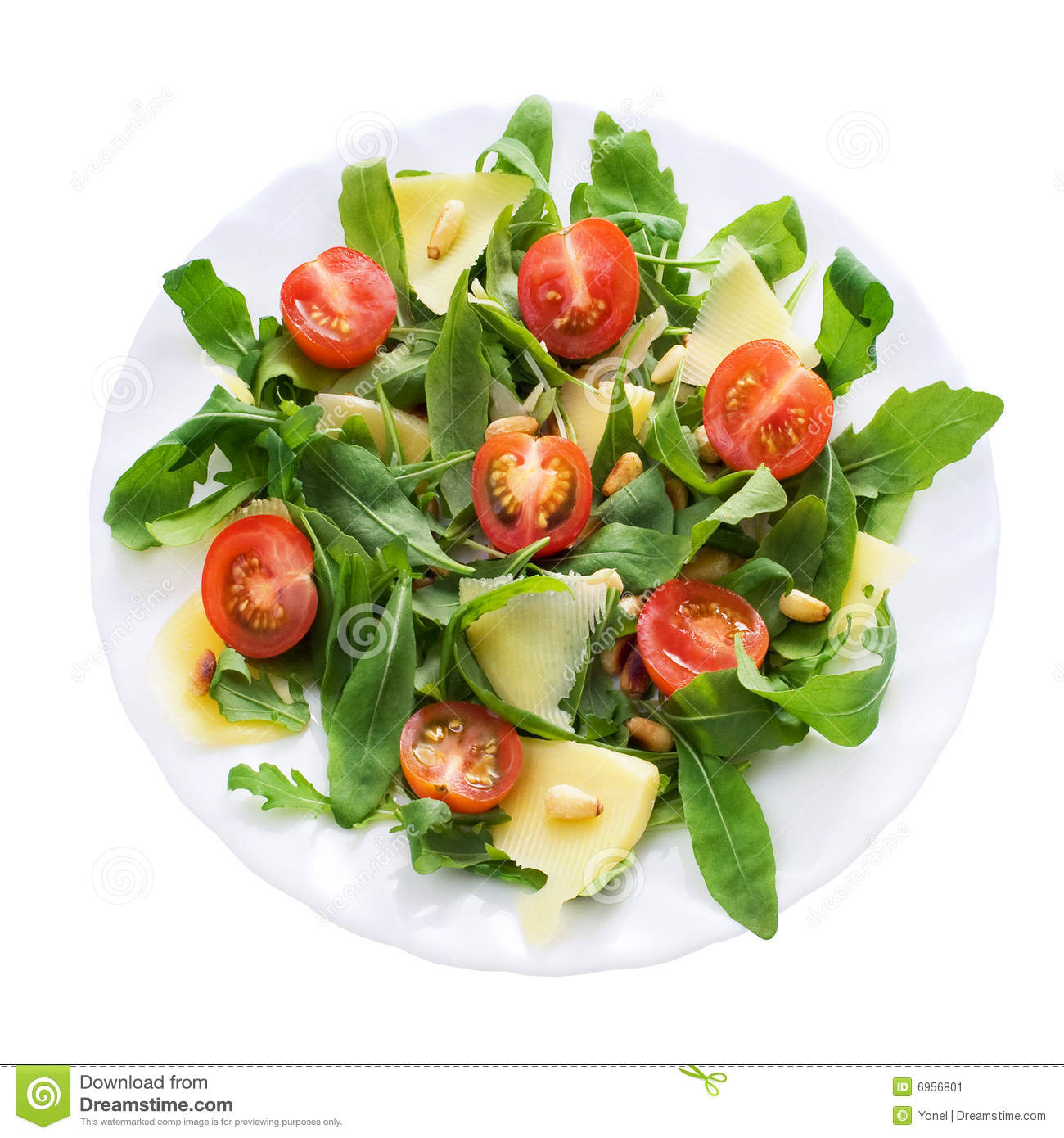 ruccola salad plate stock image  image  - baby clipping parmesan path pine plate ruccola salad