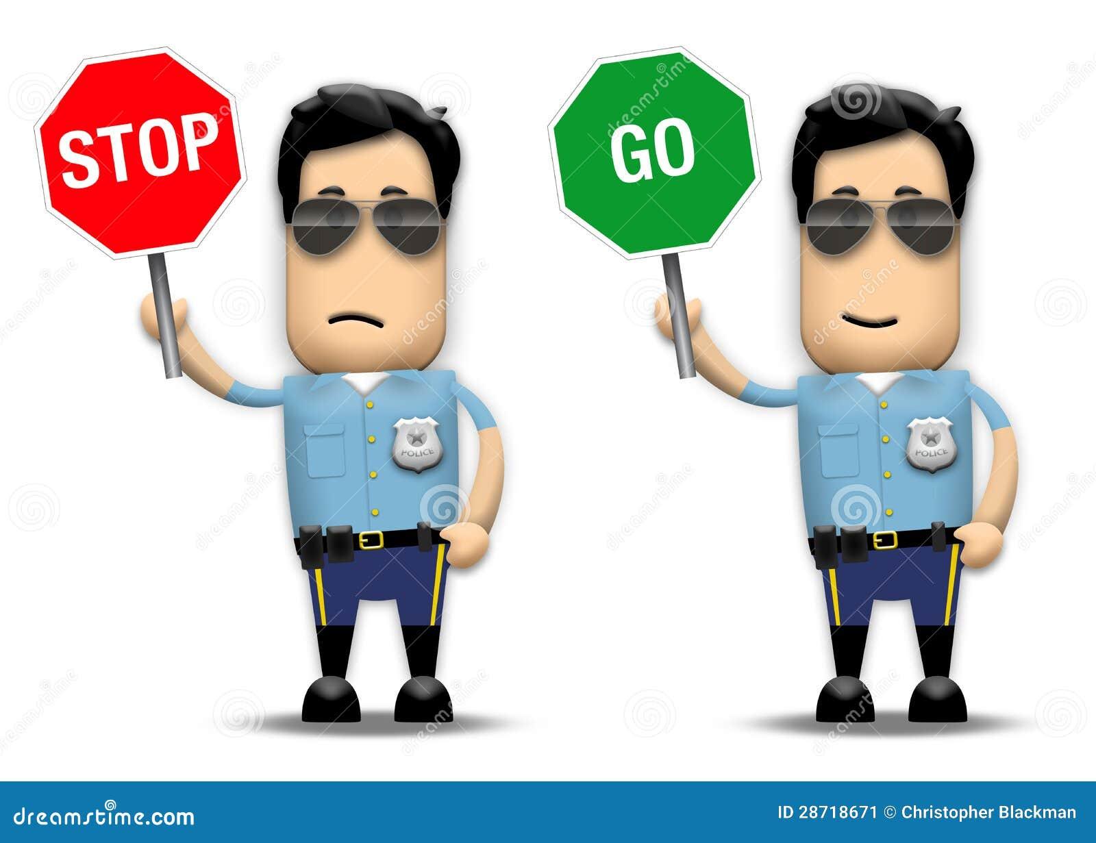 Ruch drogowy policjant
