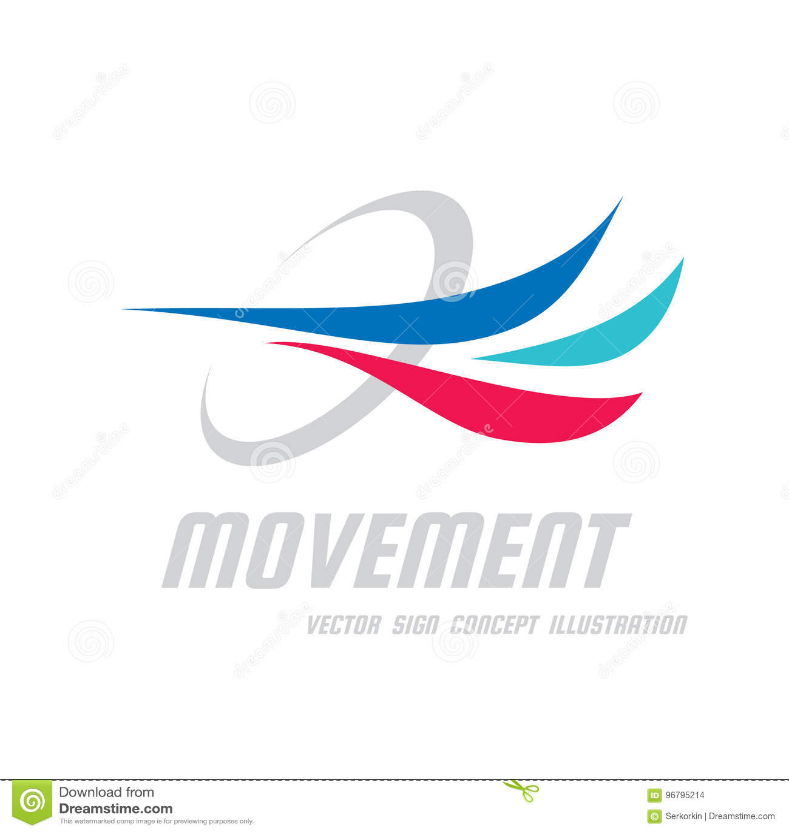 Ruch - wektorowa biznesowa loga szablonu pojęcia ilustracja Abstraktów barwioni dynamiczni kształty Postępu rozwoju znak