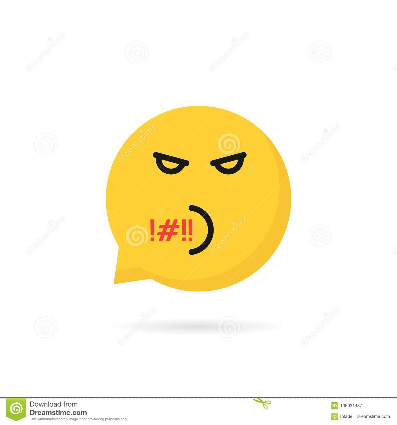 Rude stock illustrations 1775 rude stock illustrations vectors rude emoji speech bubble logo yellow symbol of user interface for quarrel or web dialog biocorpaavc