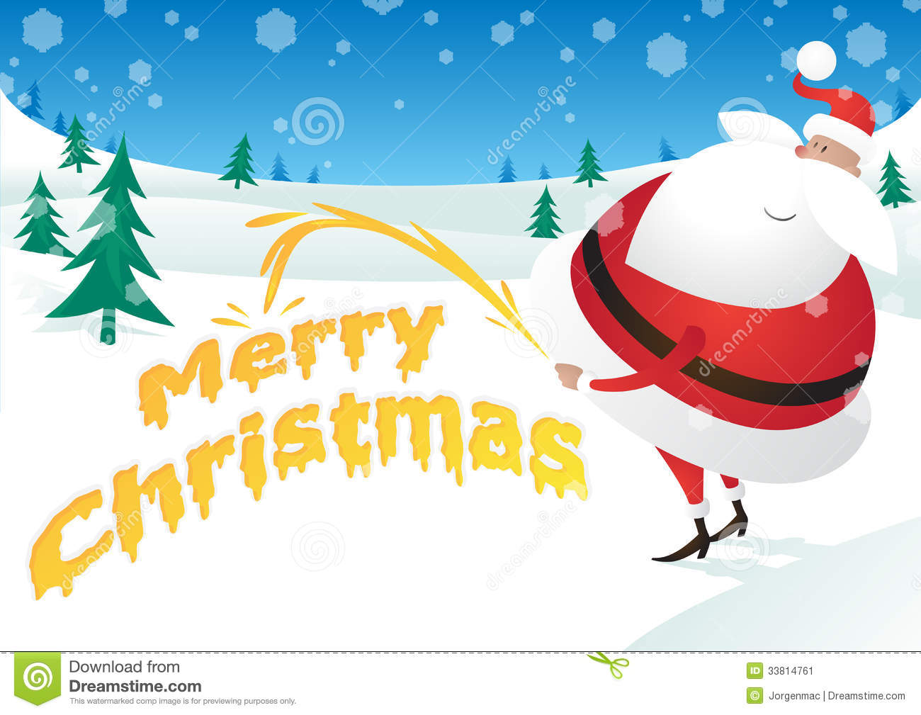 Rude Santa Takes The P... Animated Christmas Greeting Cards Free Download