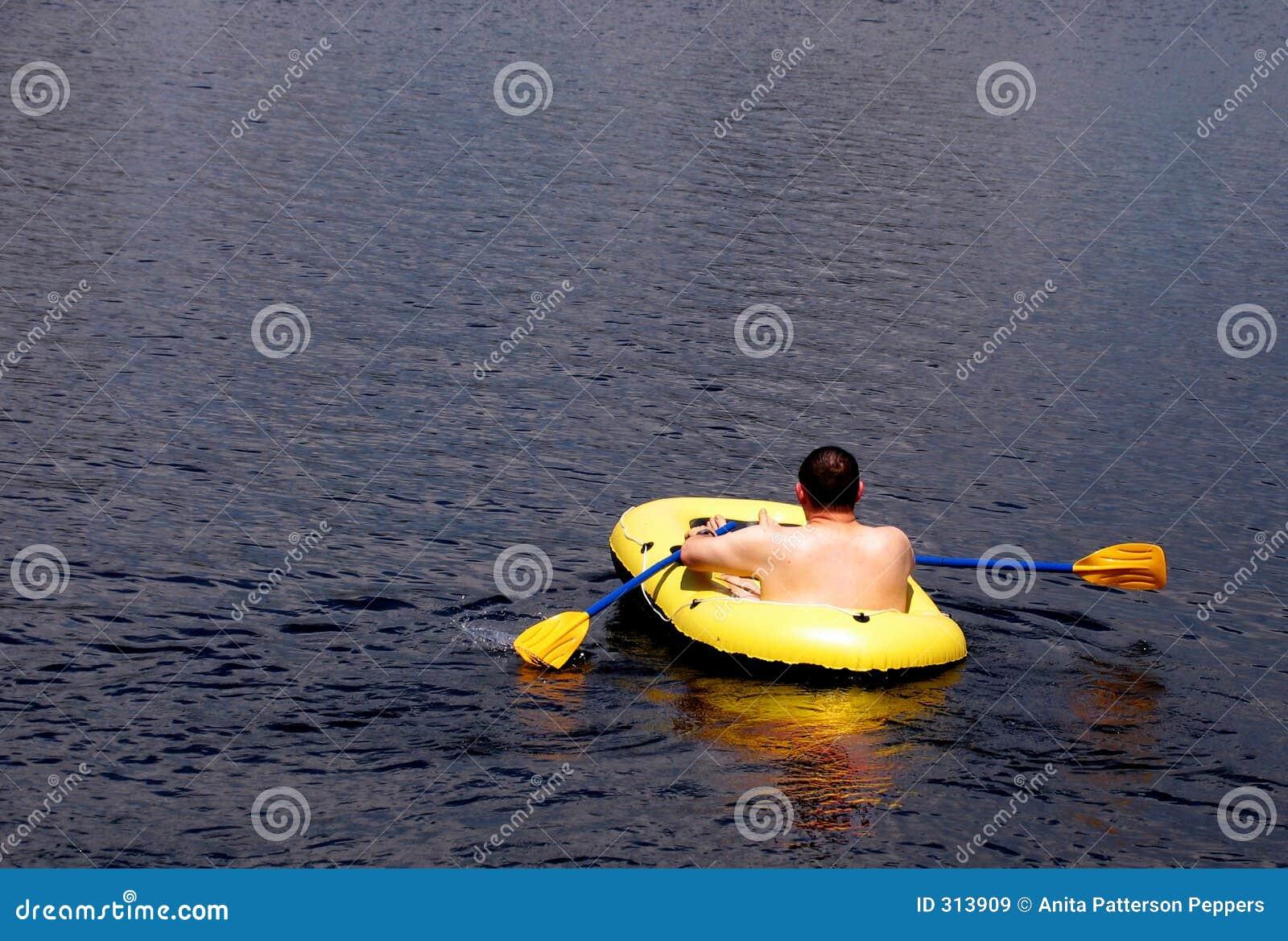 Rudern Sie Ihr Boot