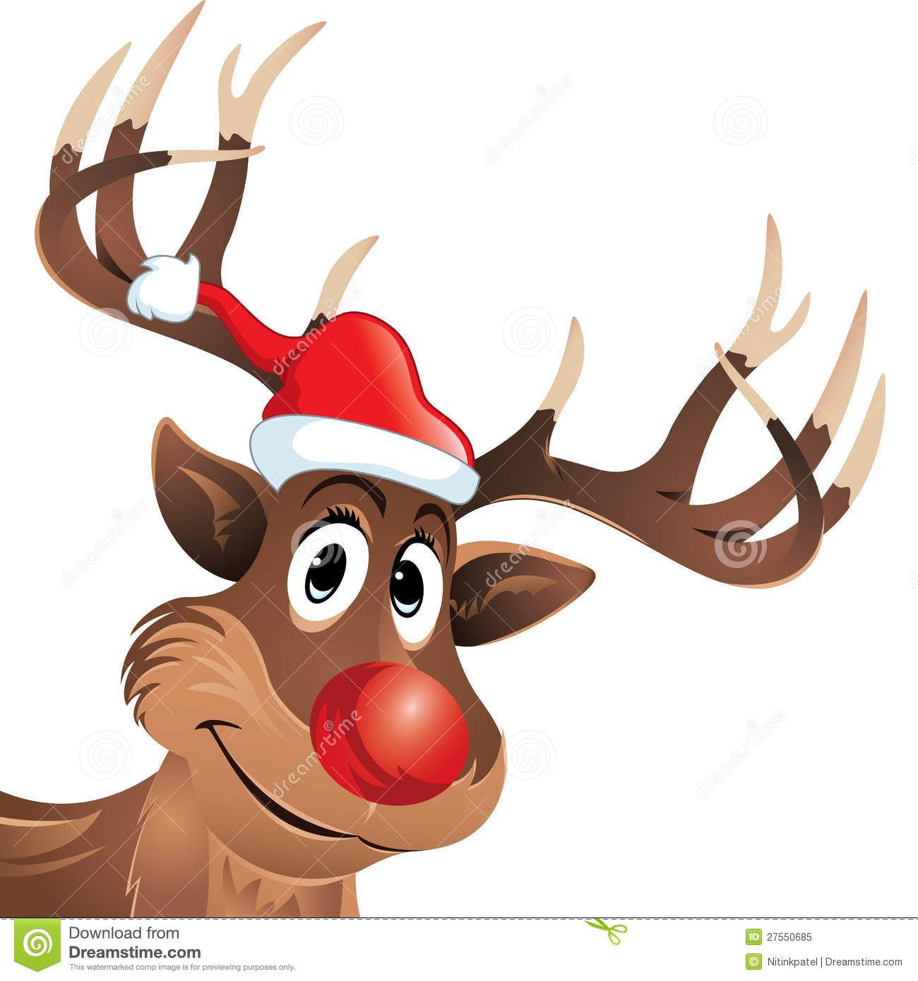 ... similar stock images of ` Rudolf the reindeer with red nose and hat