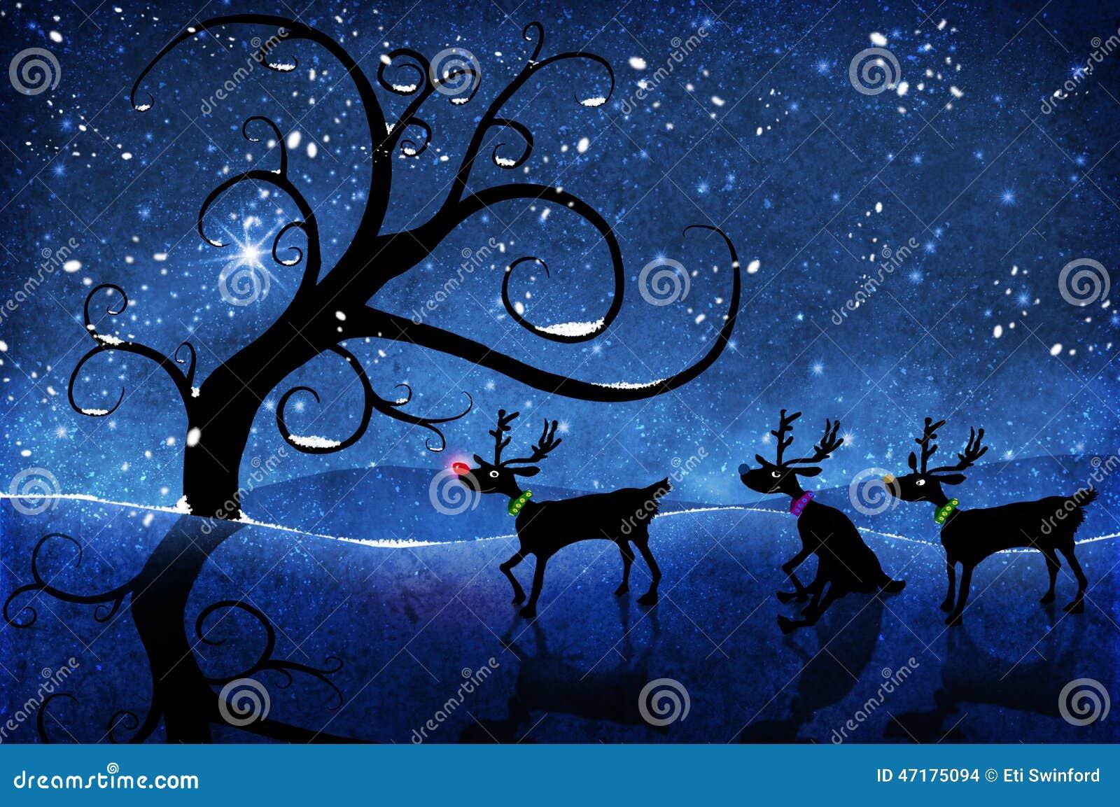 Rudolf and reindeer