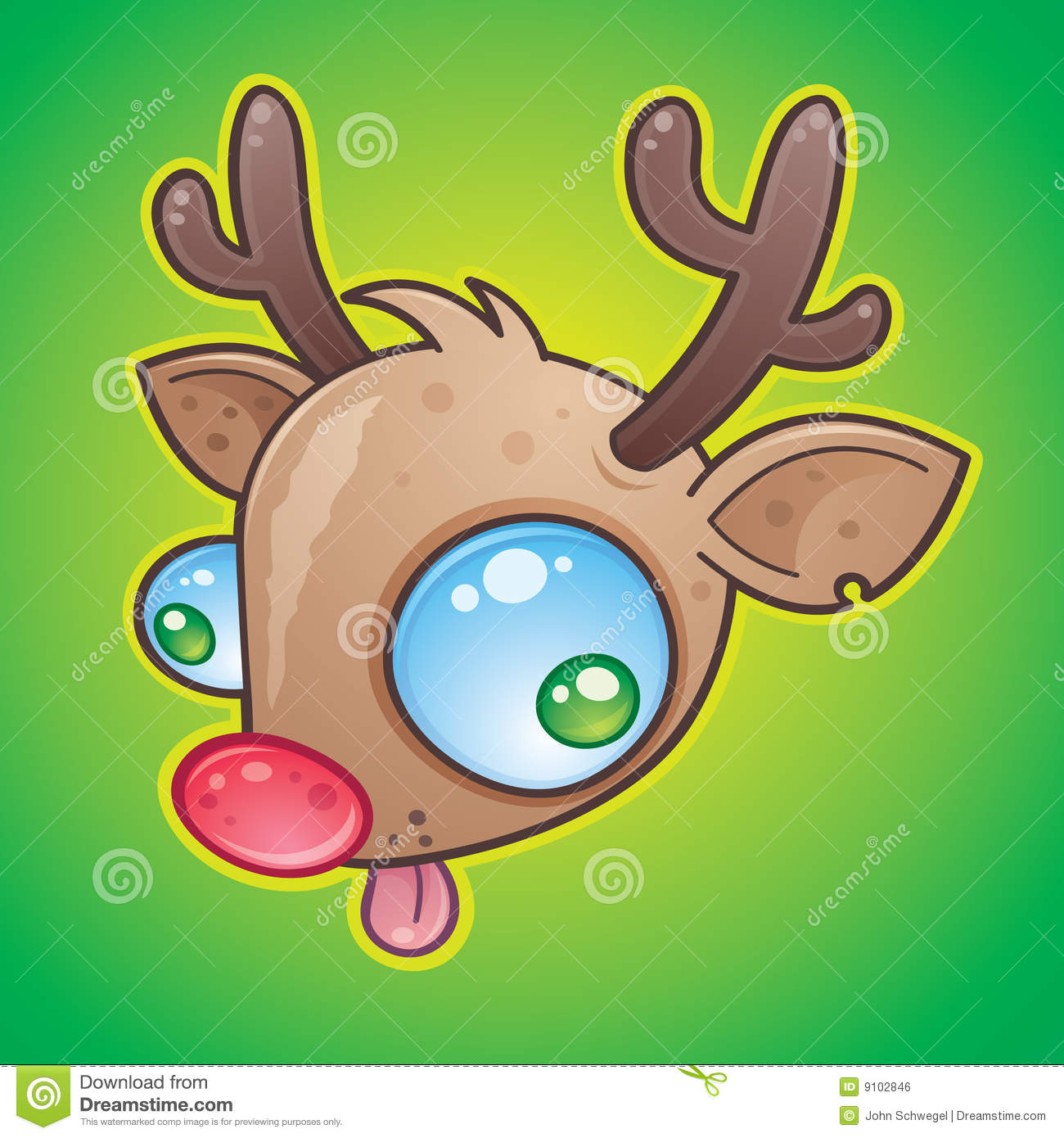 Rudolph The Red-Nosed Reindeer Stock Vector - Illustration ...