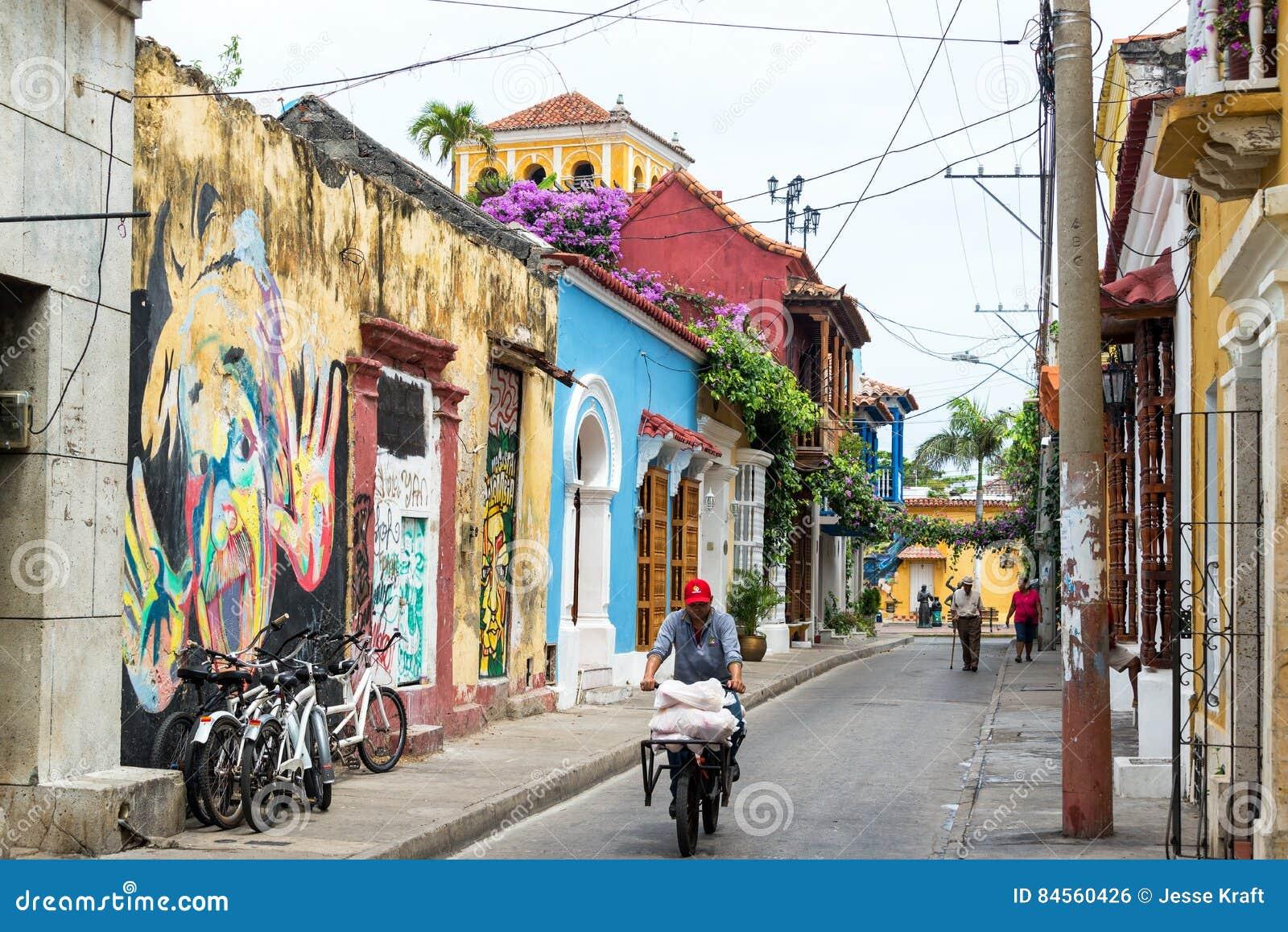 Rue à Carthagène, Colombie