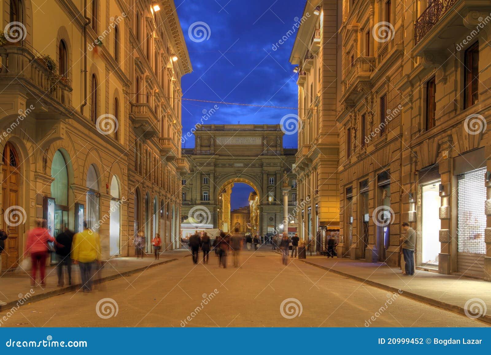 Rue à Florence, Italie