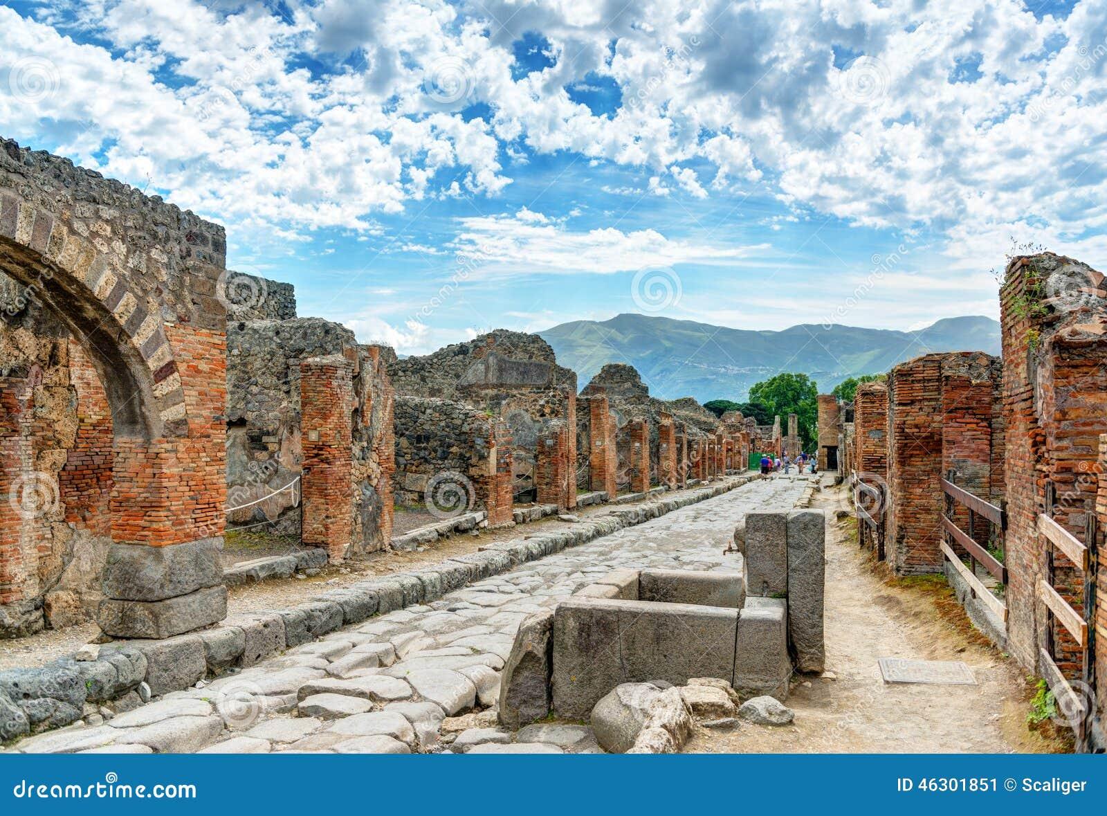 Rue à Pompeii, Italie