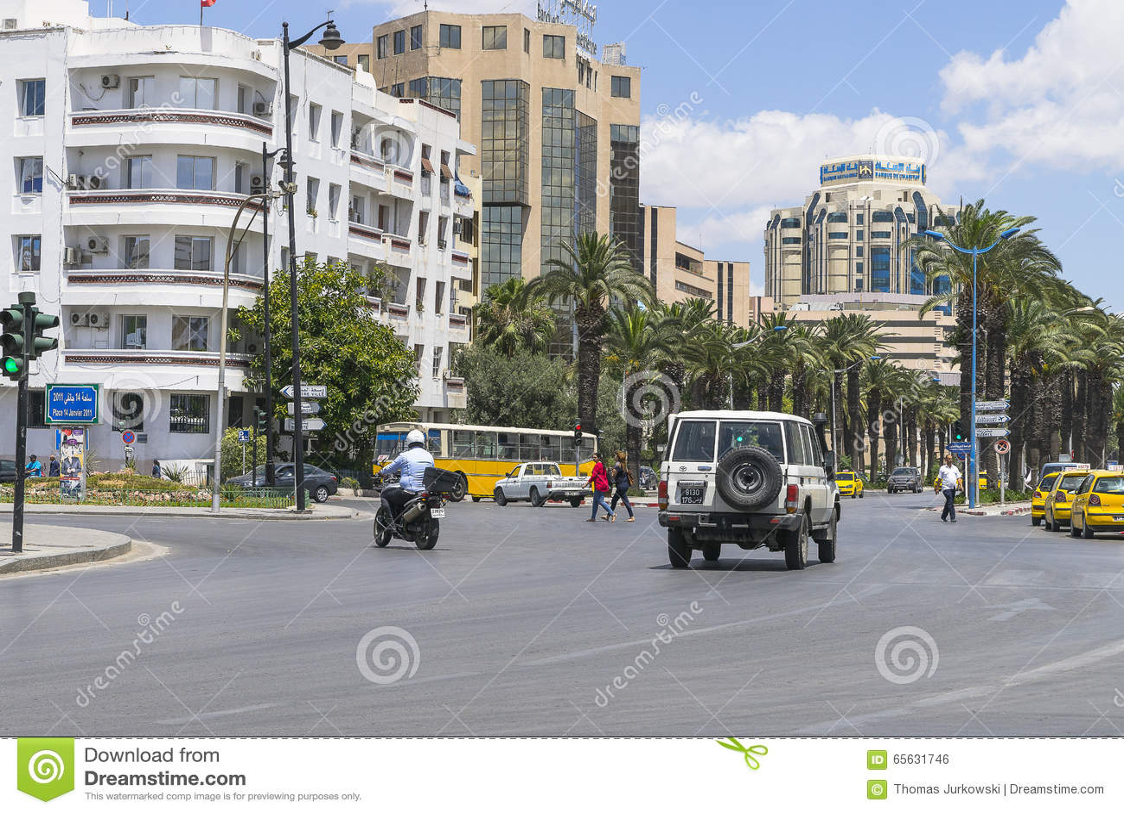 Rue à Tunis