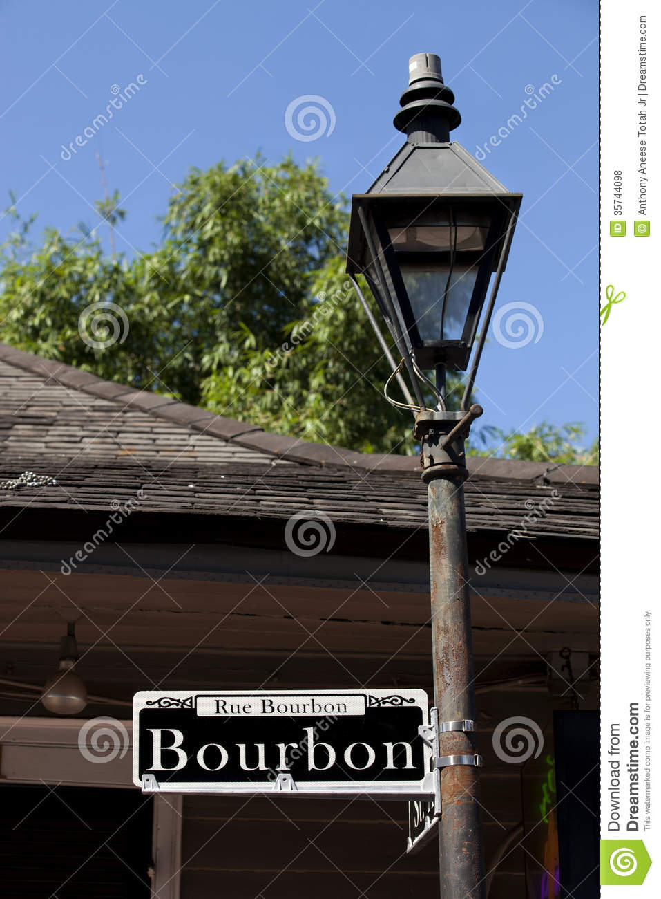 Royalty-Free Stock Photo. Download Rue Bourbon Street Sign ... & Rue Bourbon Street Sign And St Ann Street Stock Photo - Image ... azcodes.com