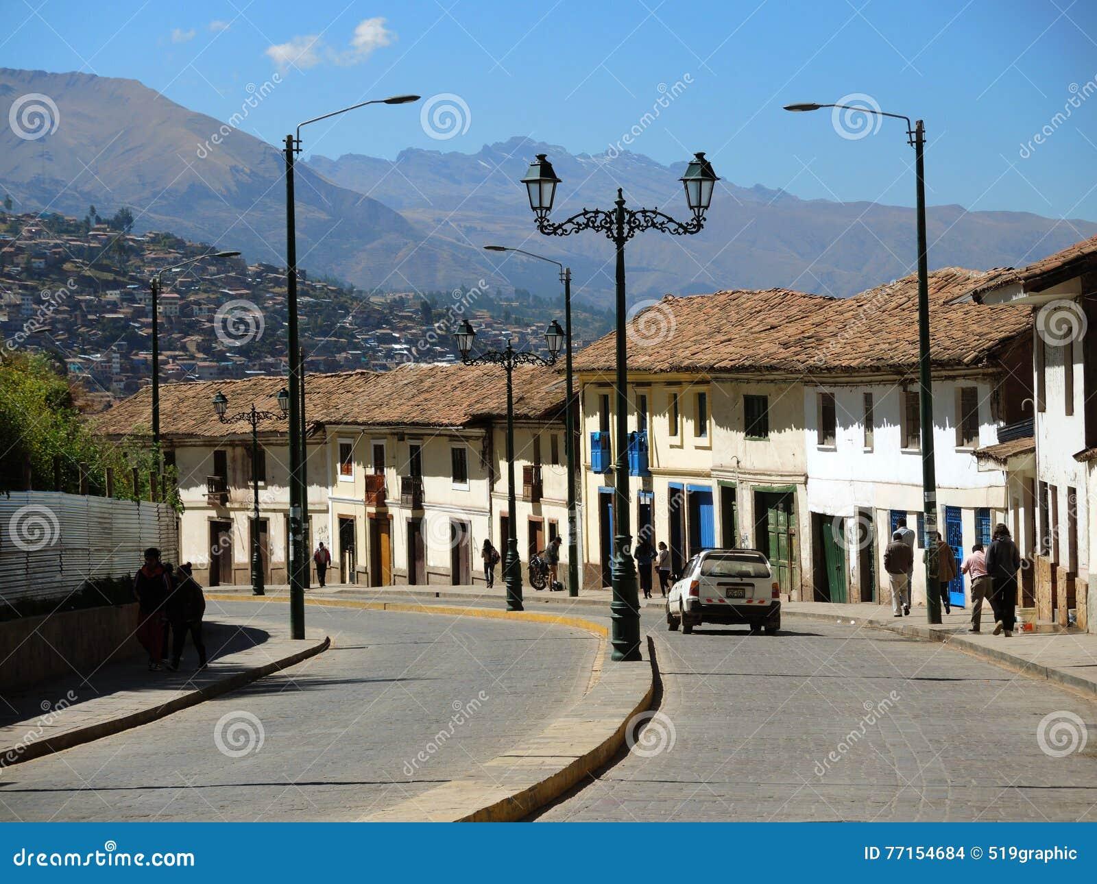 Rue coloniale dans Cusco, Pérou