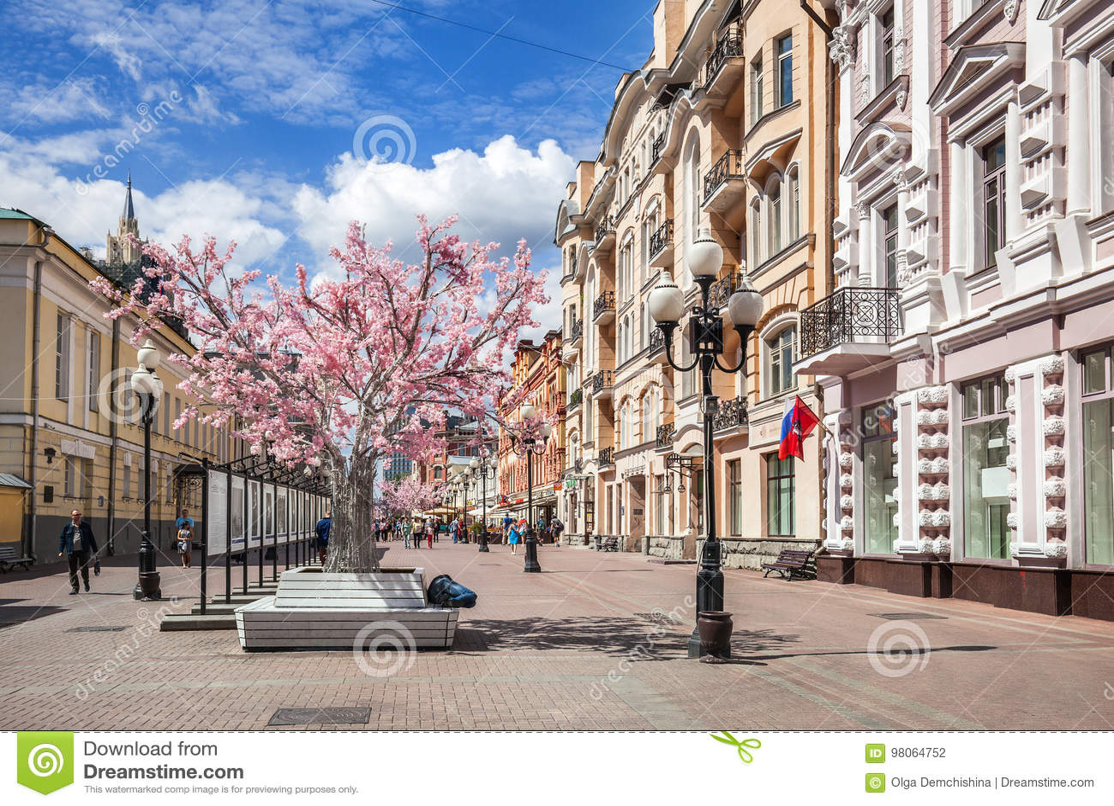 Rue d Arbat à Moscou