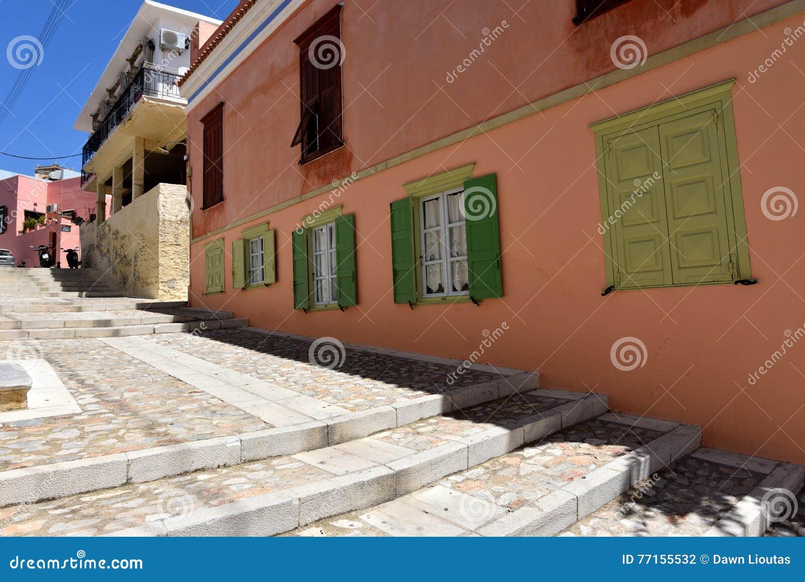 Rue dans Ermoupoli Syros, Grèce
