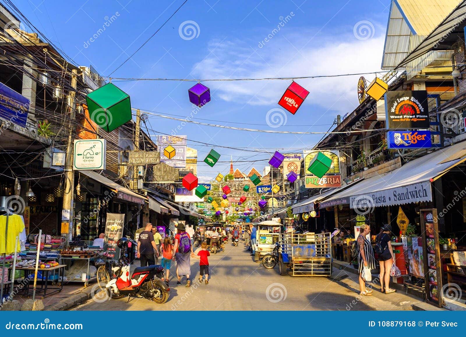 Rue de bar dans Siem Reap