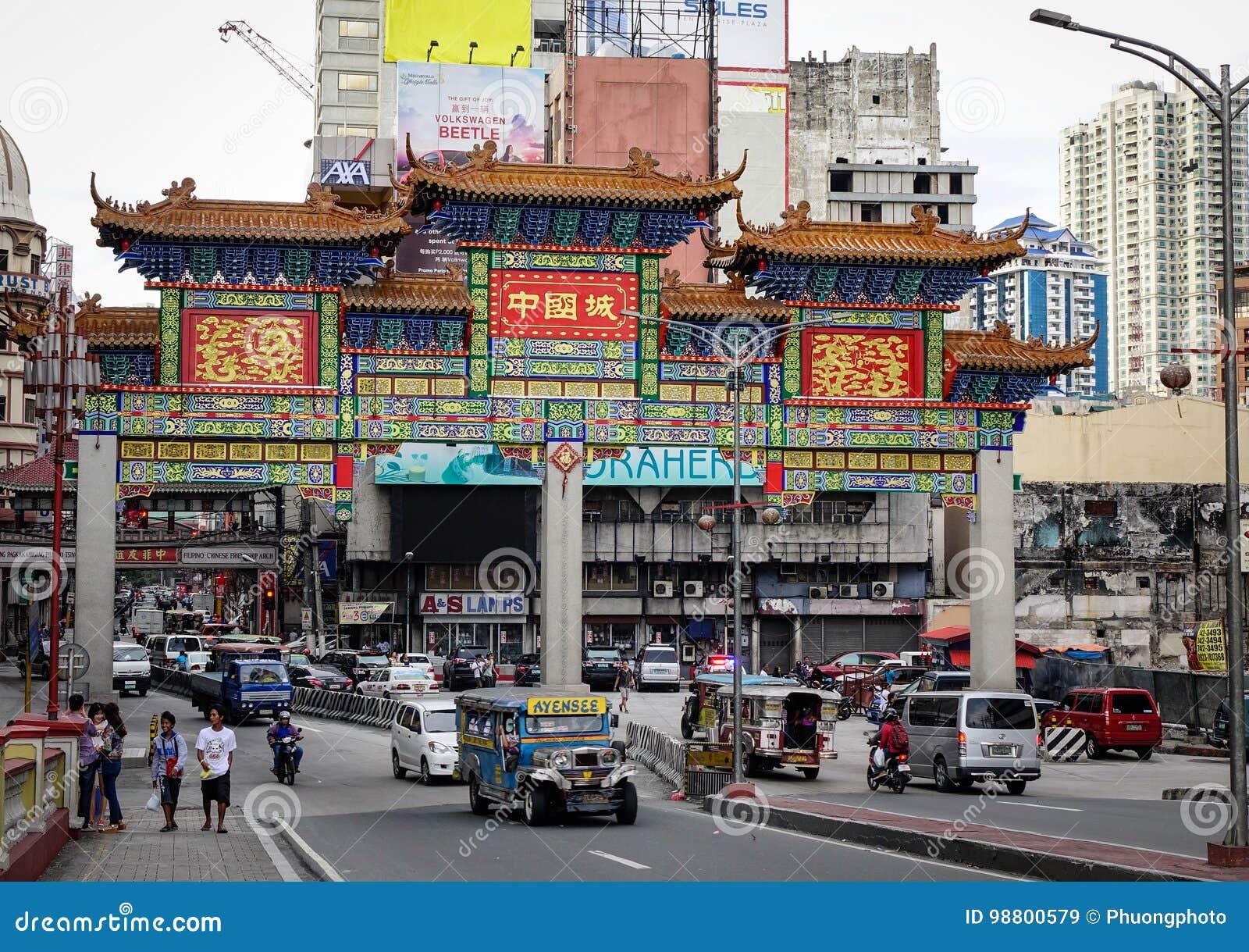 Rue de Chinatown à Manille, Philippines