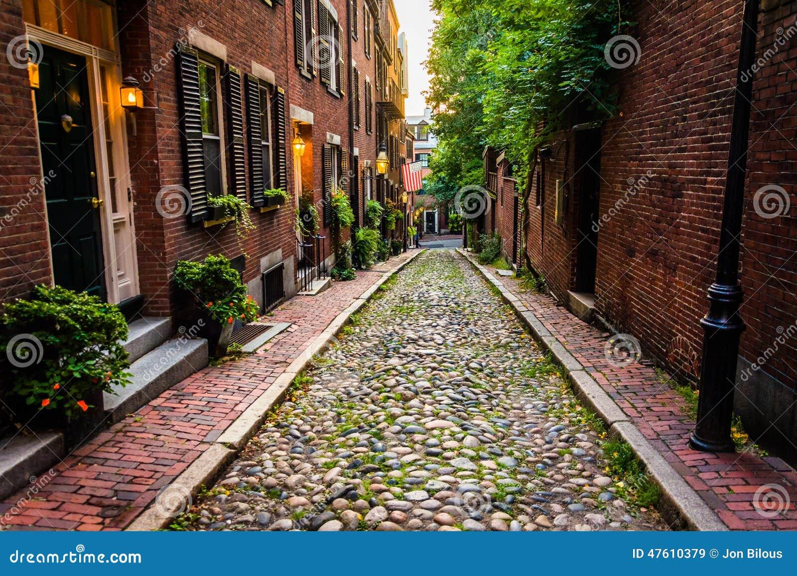 Rue de gland, dans Beacon Hill, Boston, le Massachusetts