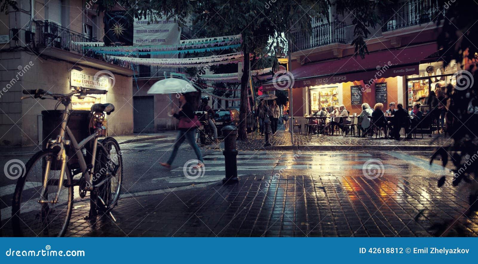 Rue de nuit de Barcelone
