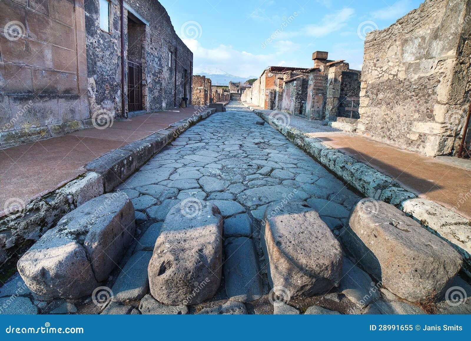 Rue de Pompeii, Italie.