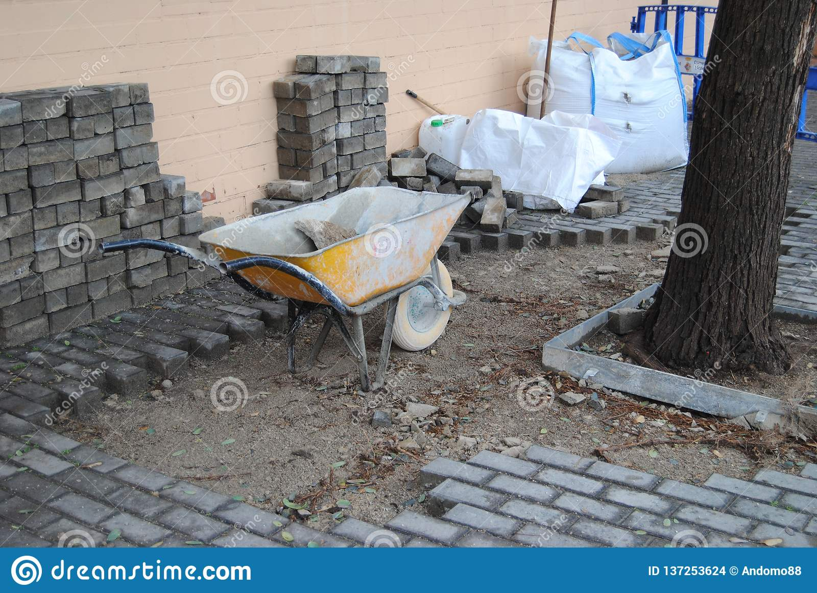 Rue en construction
