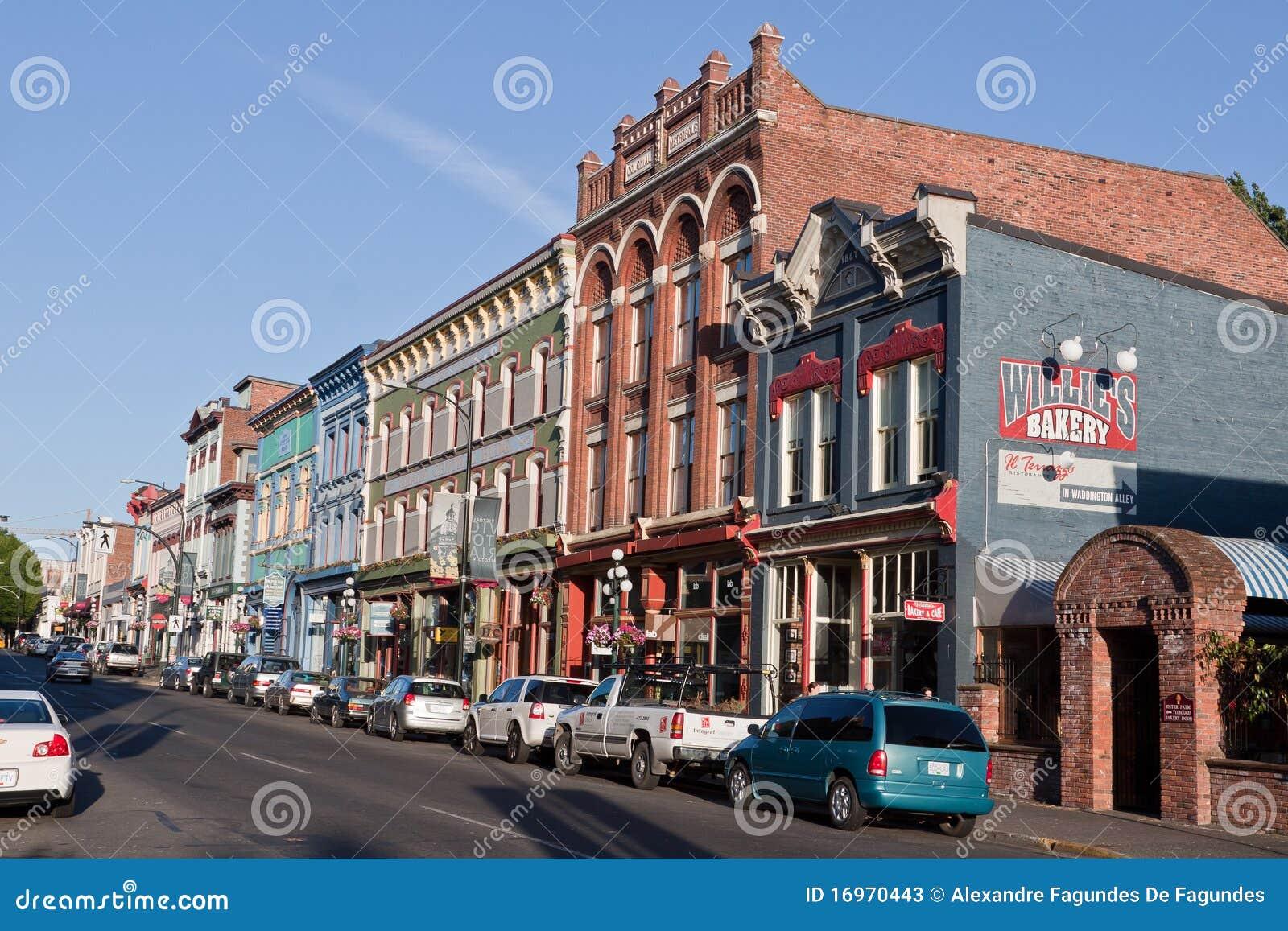 Rue historique type Victoria Canada