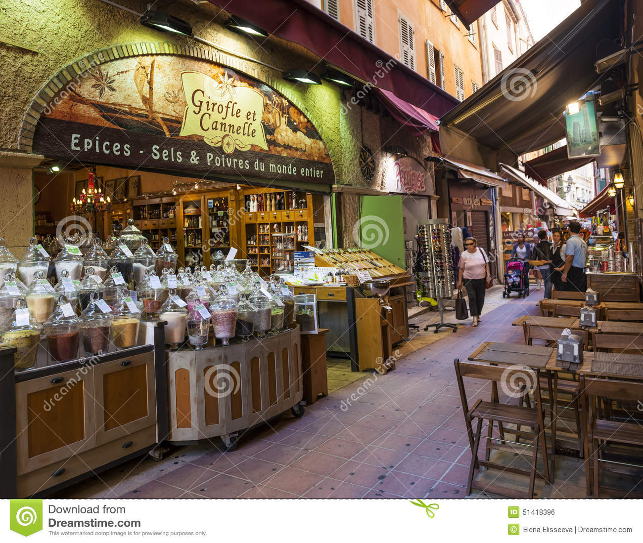 Rue pairoliere in nice france editorial photo image for Shopping cuisine