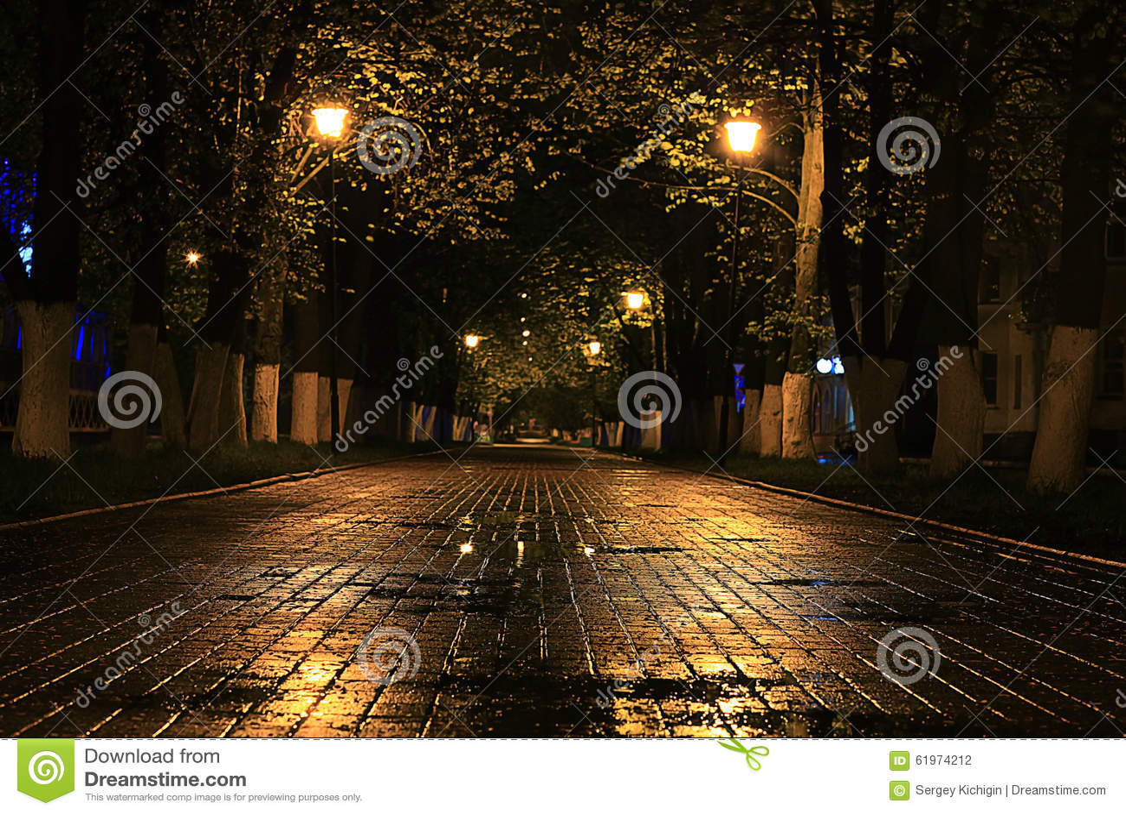 Rue pluvieuse de paysage