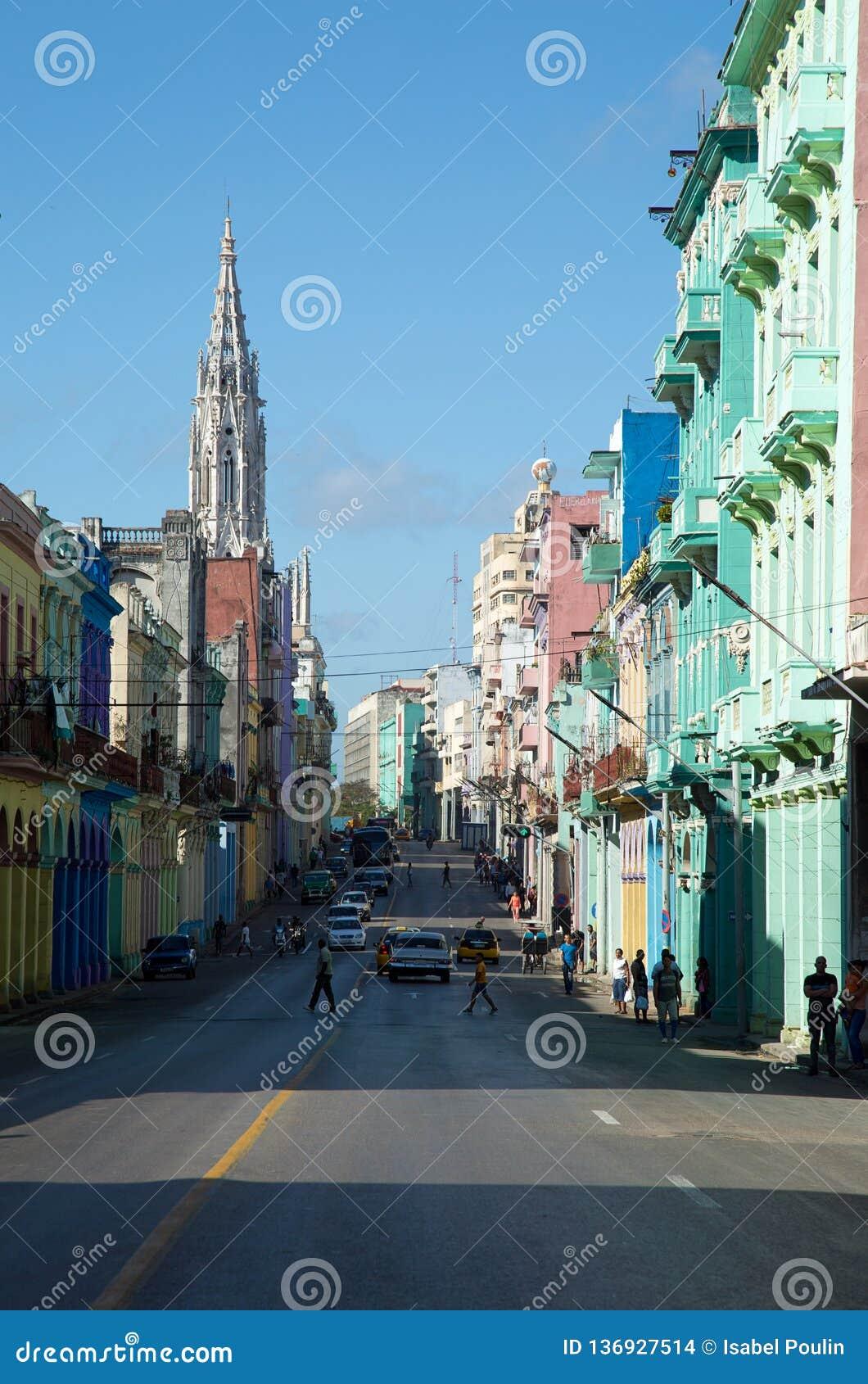 Rue populaire à La Havane au Cuba