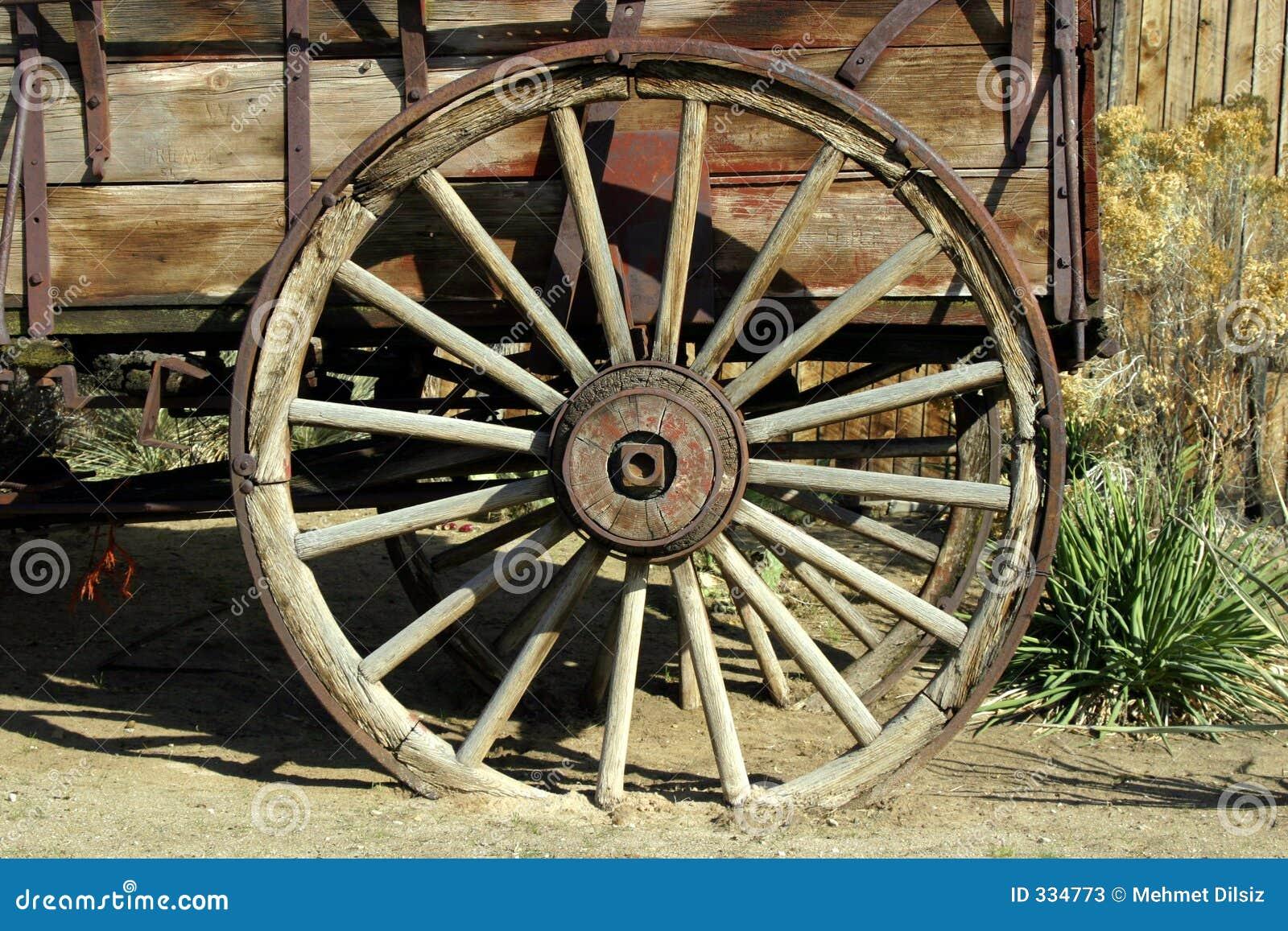 Rueda de carro antigua vieja imagen de archivo imagen de for Ruedas industriales antiguas para muebles