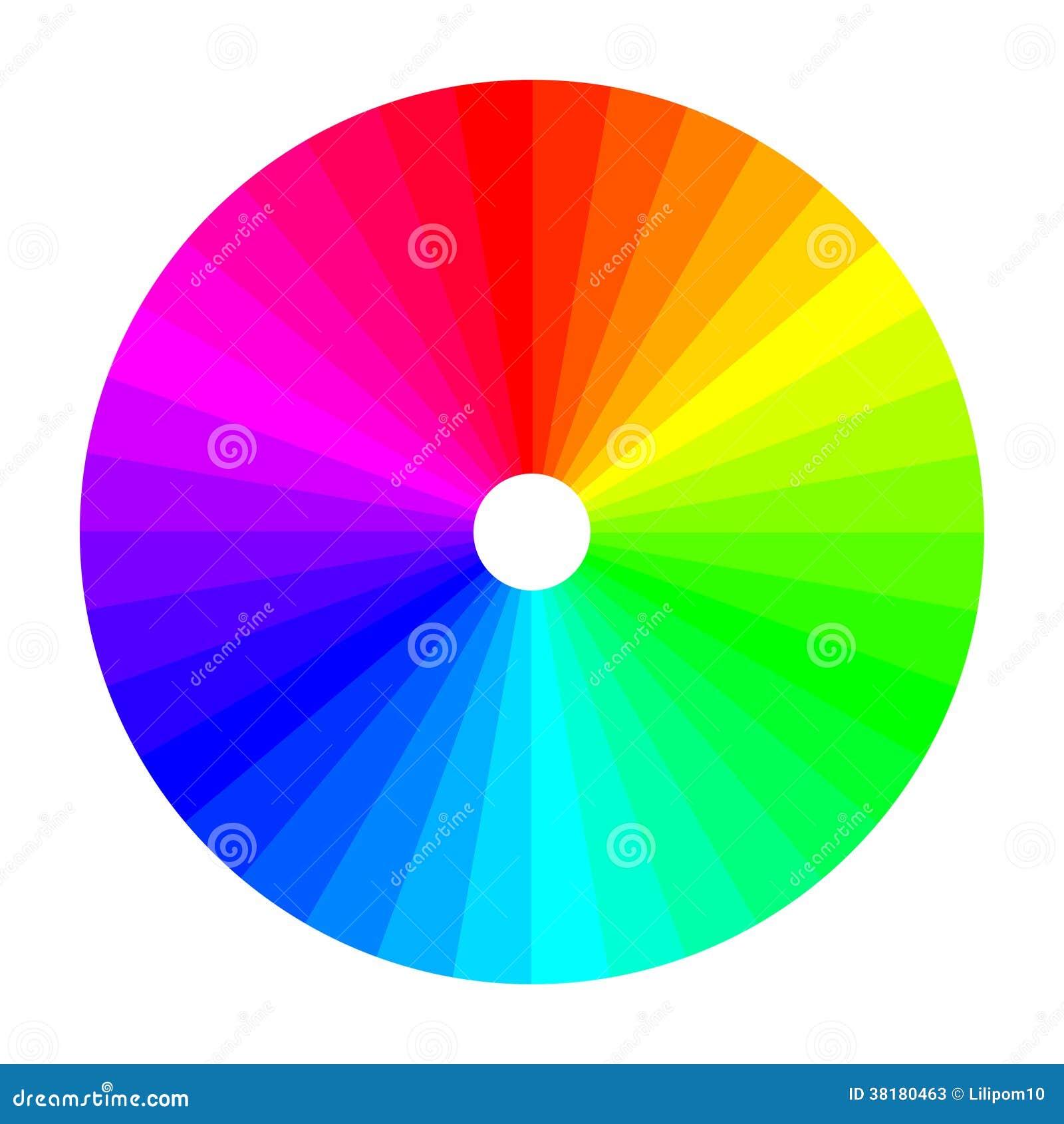 Rueda de color con la sombra de colores espectro de color - Rueda de colores ...