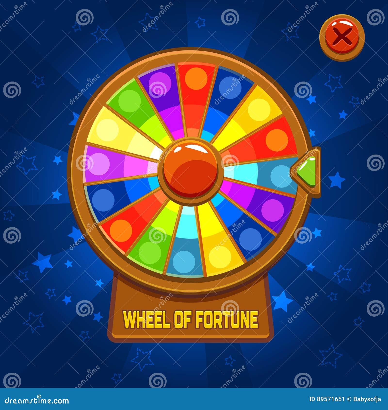 Rueda de la fortuna para el juego de Ui
