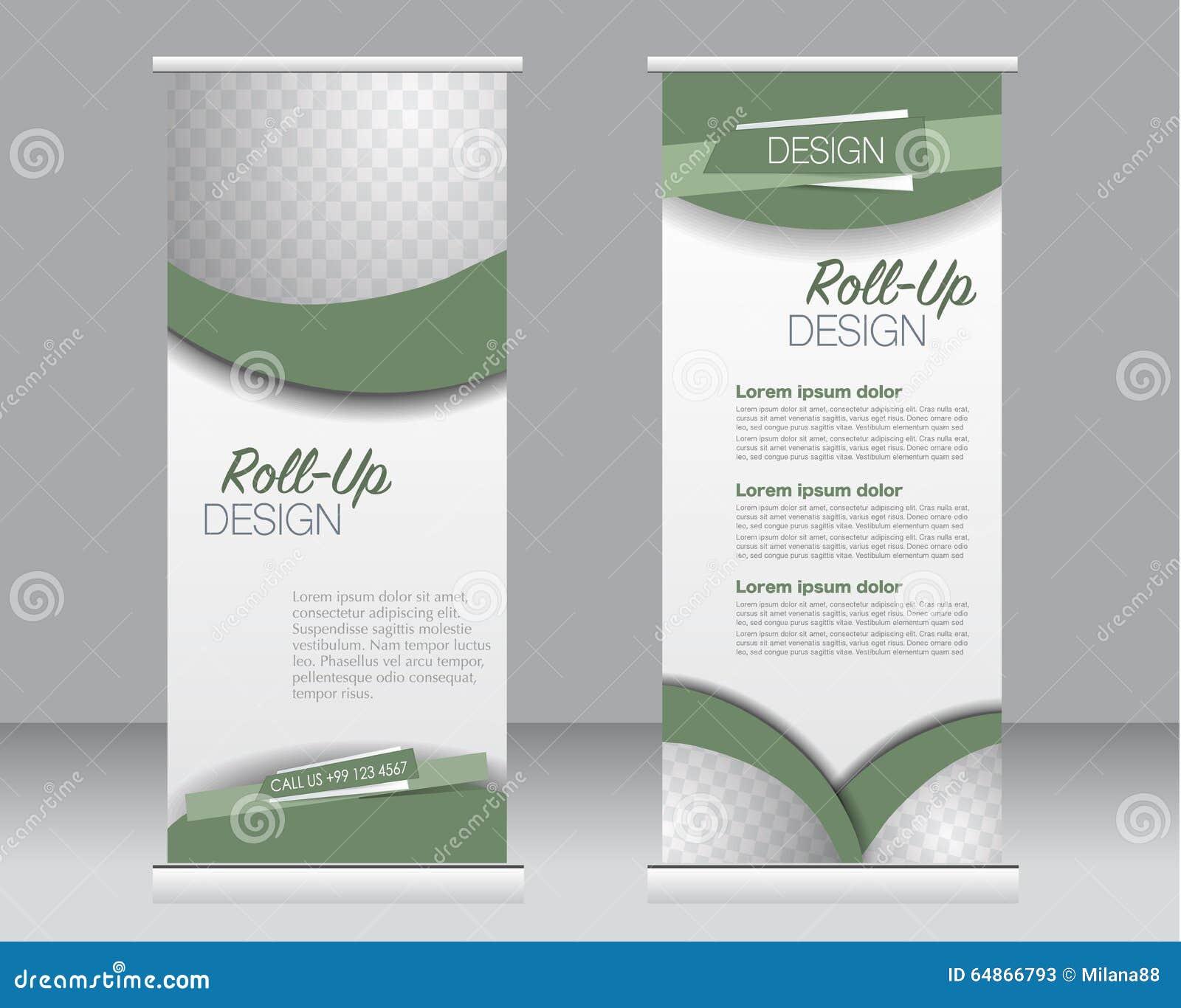 Ruede para arriba la plantilla del soporte de la bandera Fondo abstracto para el diseño, negocio, educación, anuncio