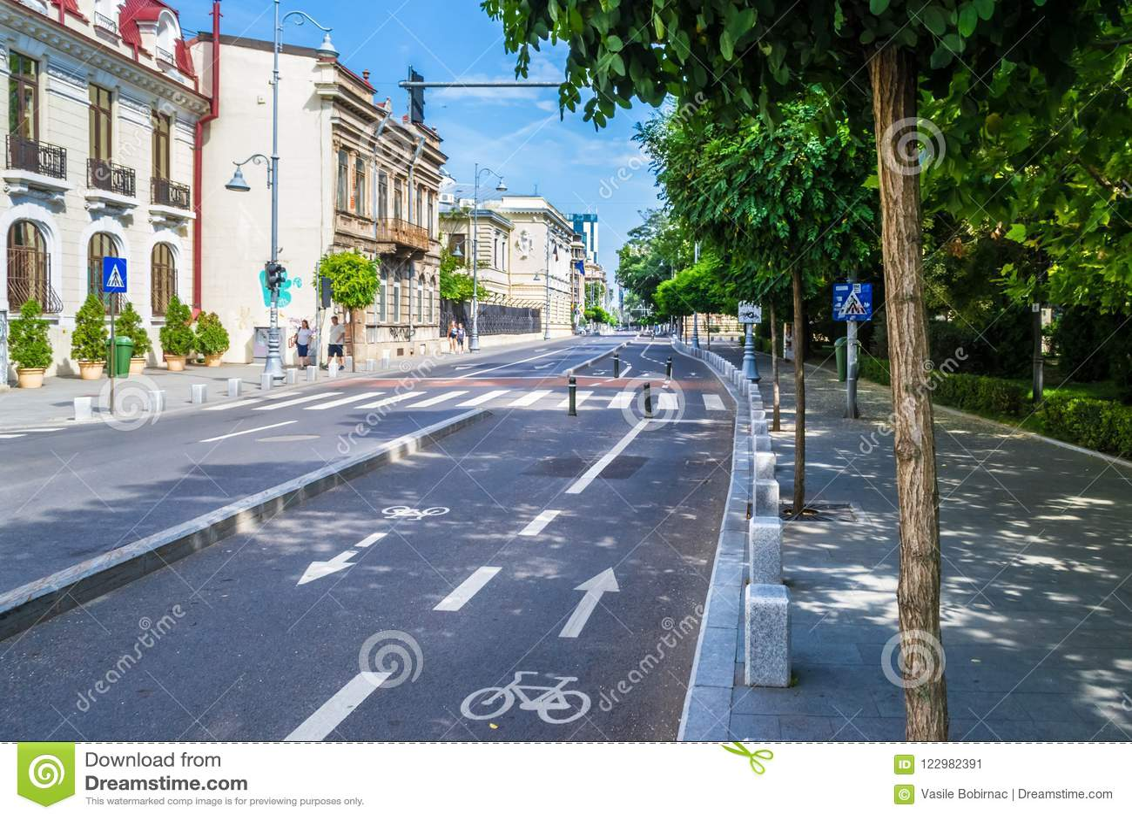 Ruelle de vélo de ville