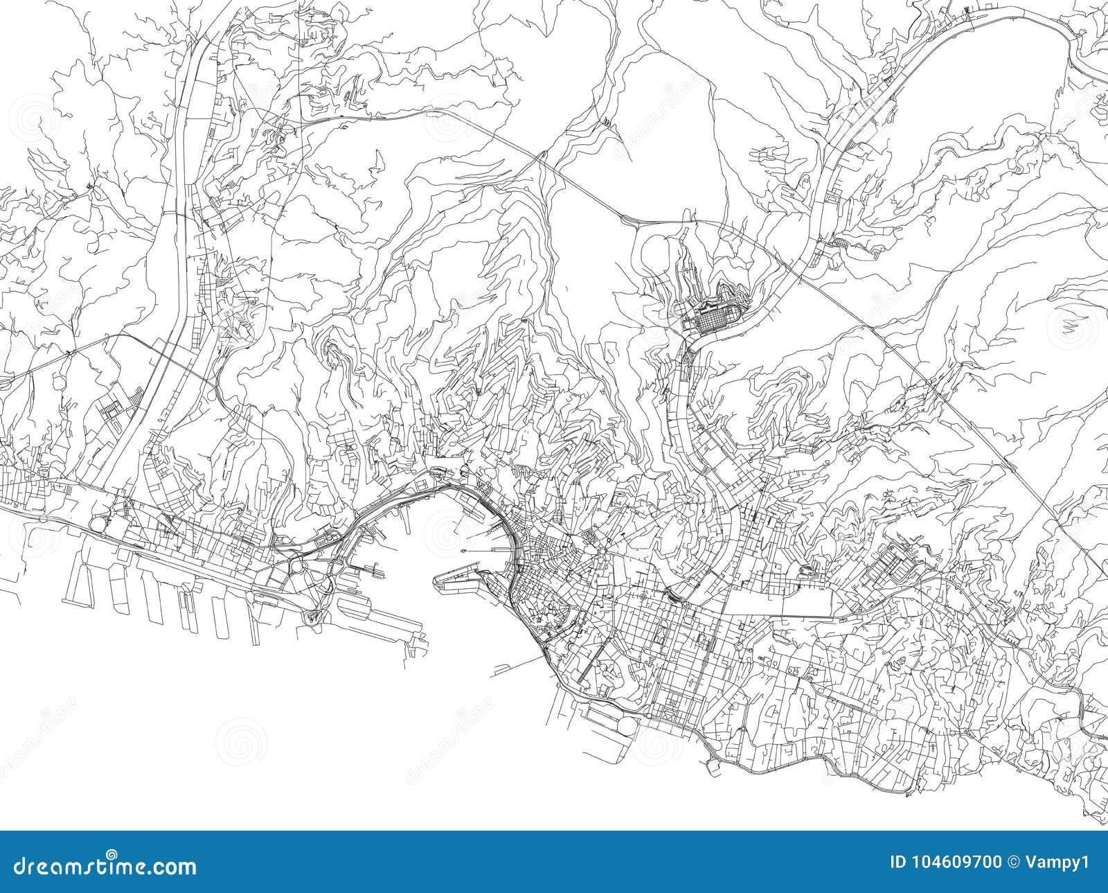 Carte Italie Ligurie.Rues De Genes Carte De Ville Ligurie Italie Illustration De