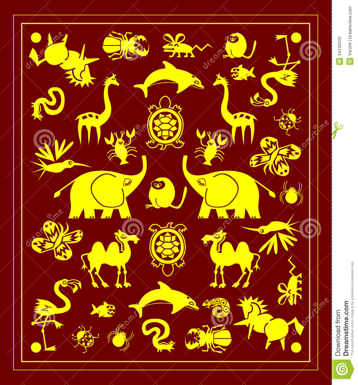 Rug with animals
