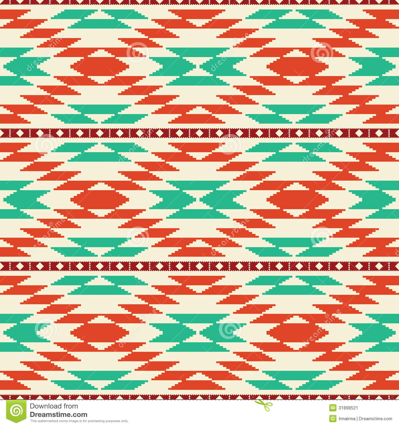 Native American Tribal Patterns Background