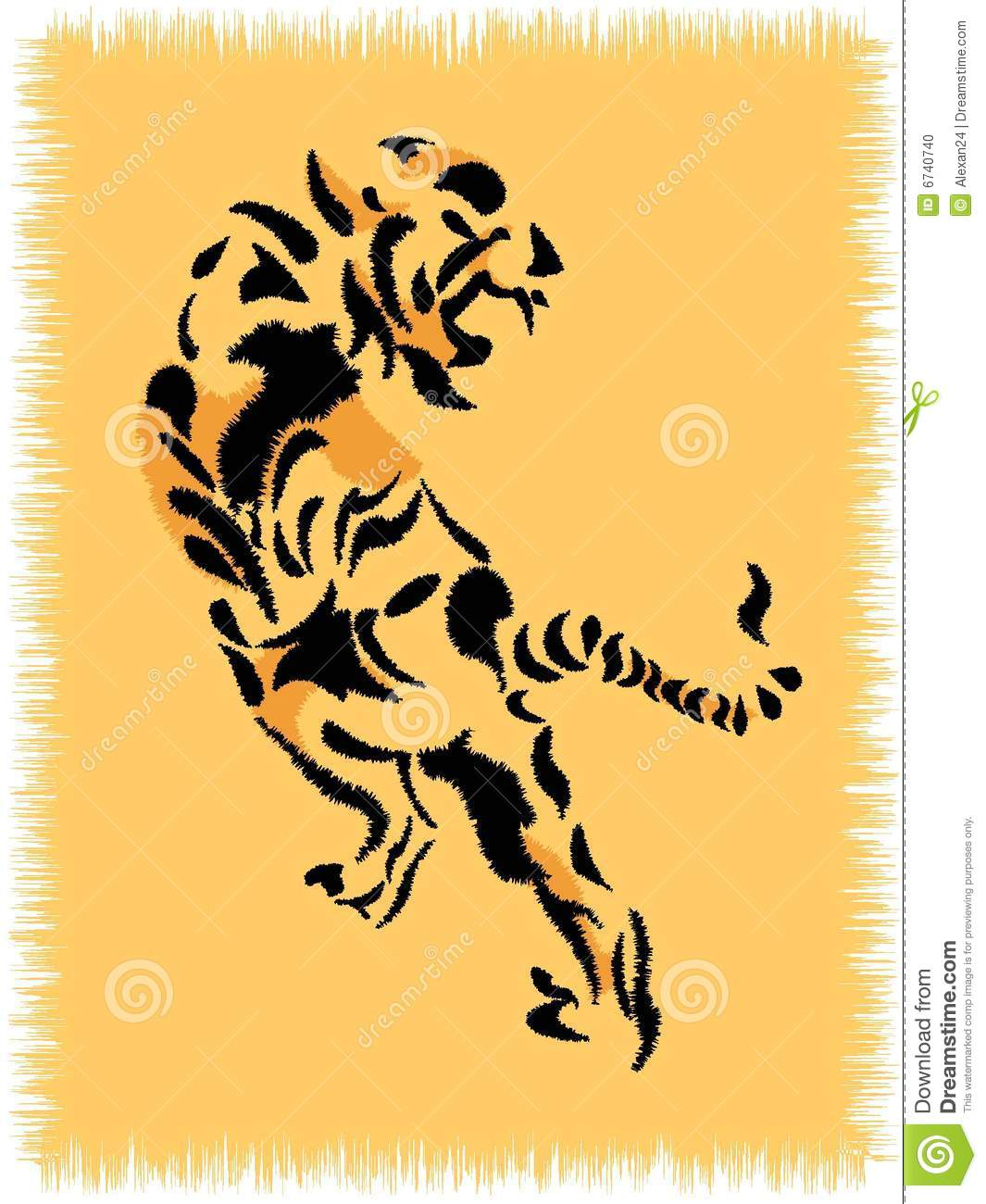 Rug With Tiger Stock Photo