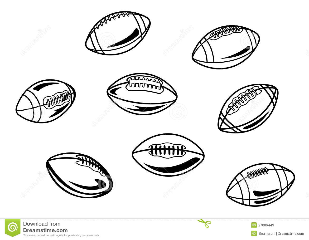 rugby and american football balls royalty free stock images image 27006449. Black Bedroom Furniture Sets. Home Design Ideas