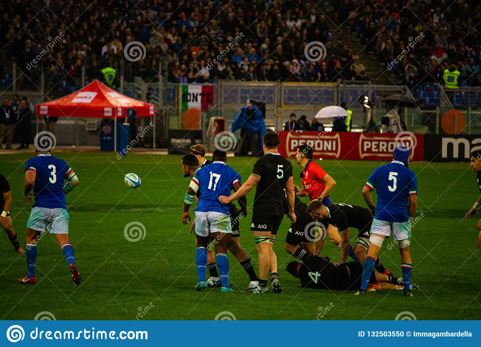 Rugby Cattolica match Italy - All Black.