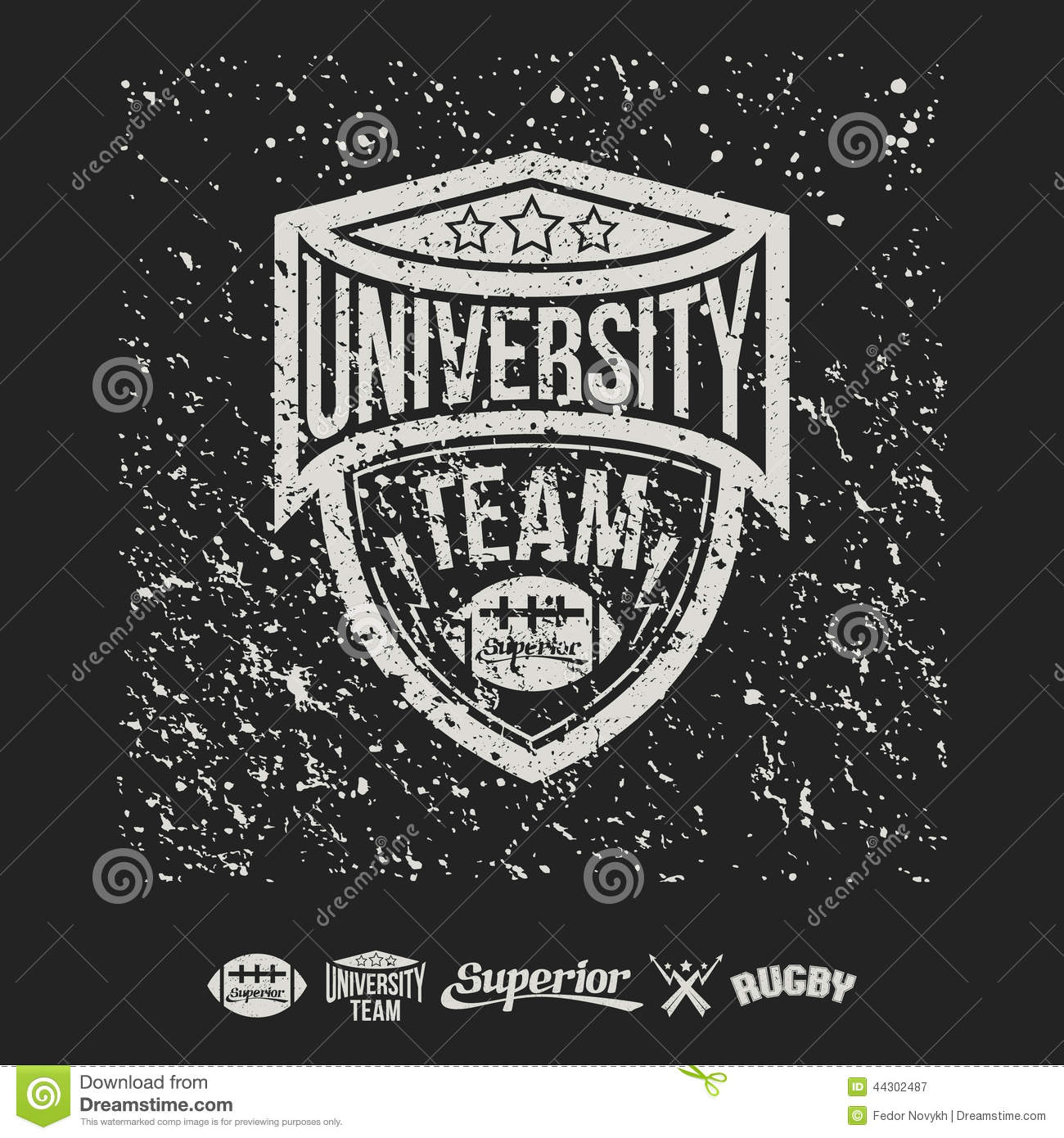 Design t shirt universiti - Design T Shirt University Rugby Emblem University Team And Design Elements Royalty Free Stock Photography